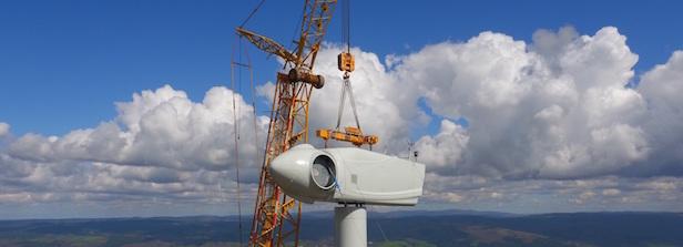 Montage des éoliennes