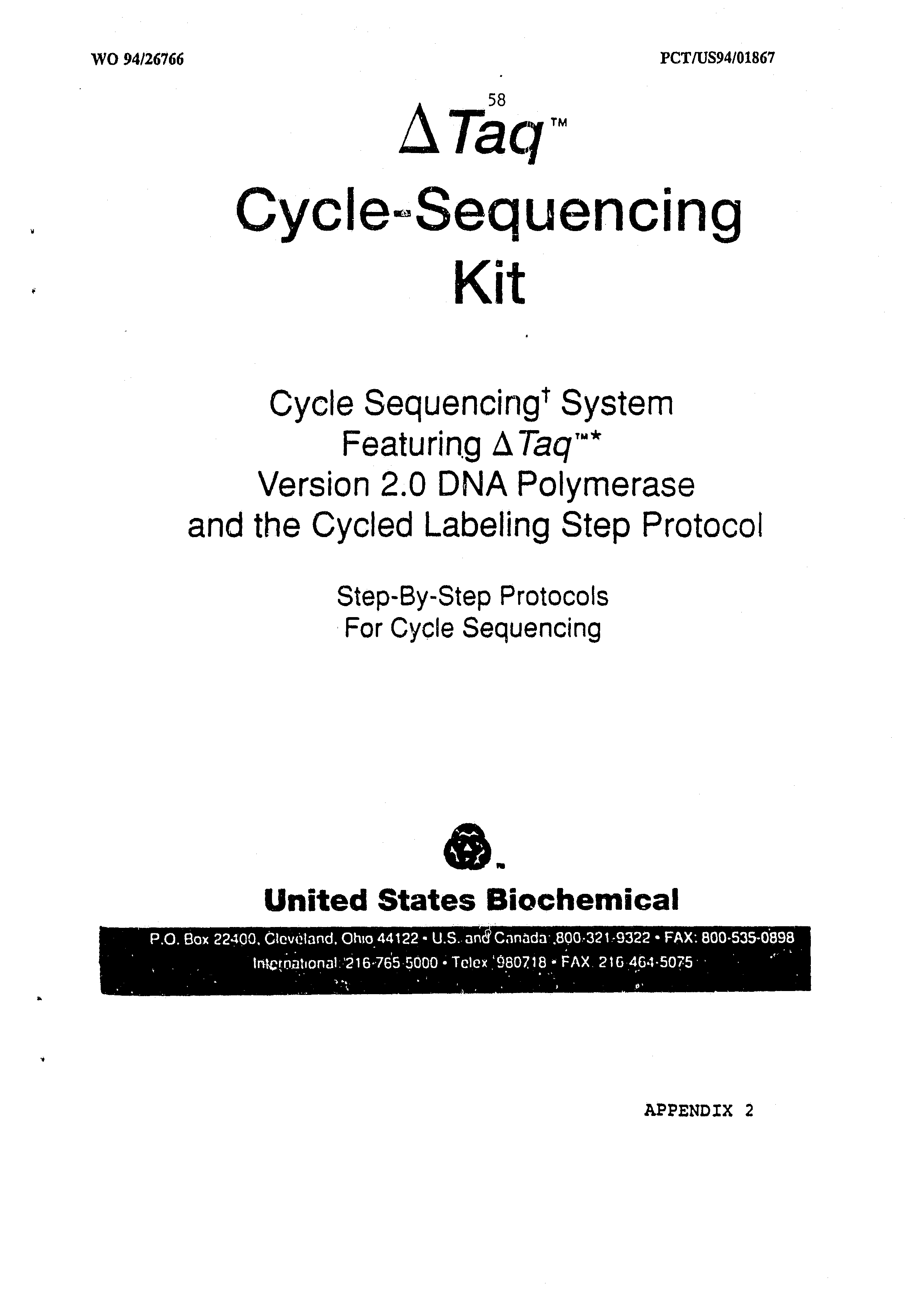 AU 1994/062464 A - Dna Polymerases With Enhanced