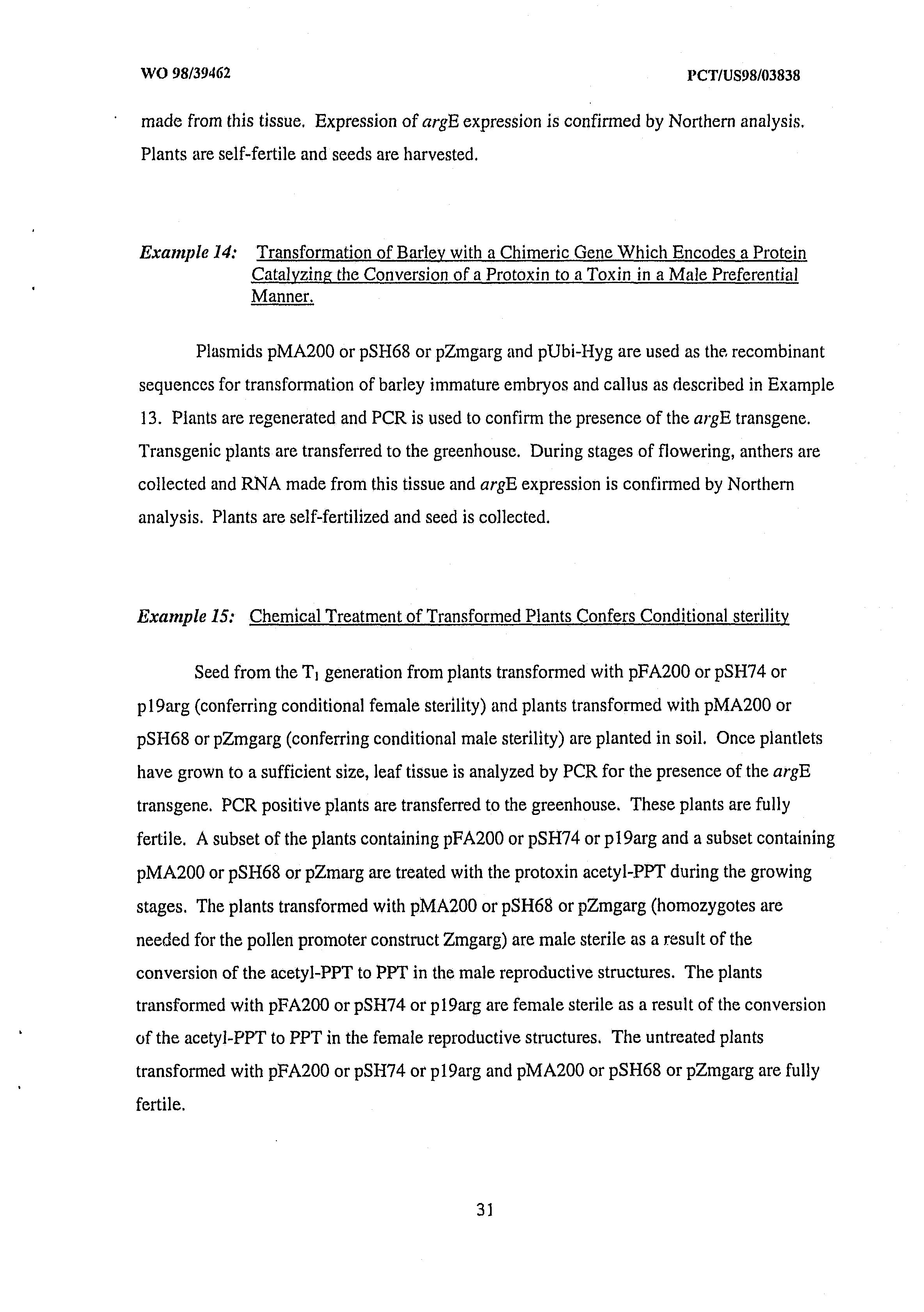AU 1998/063410 A - Method Of Hybrid Seed Production Using