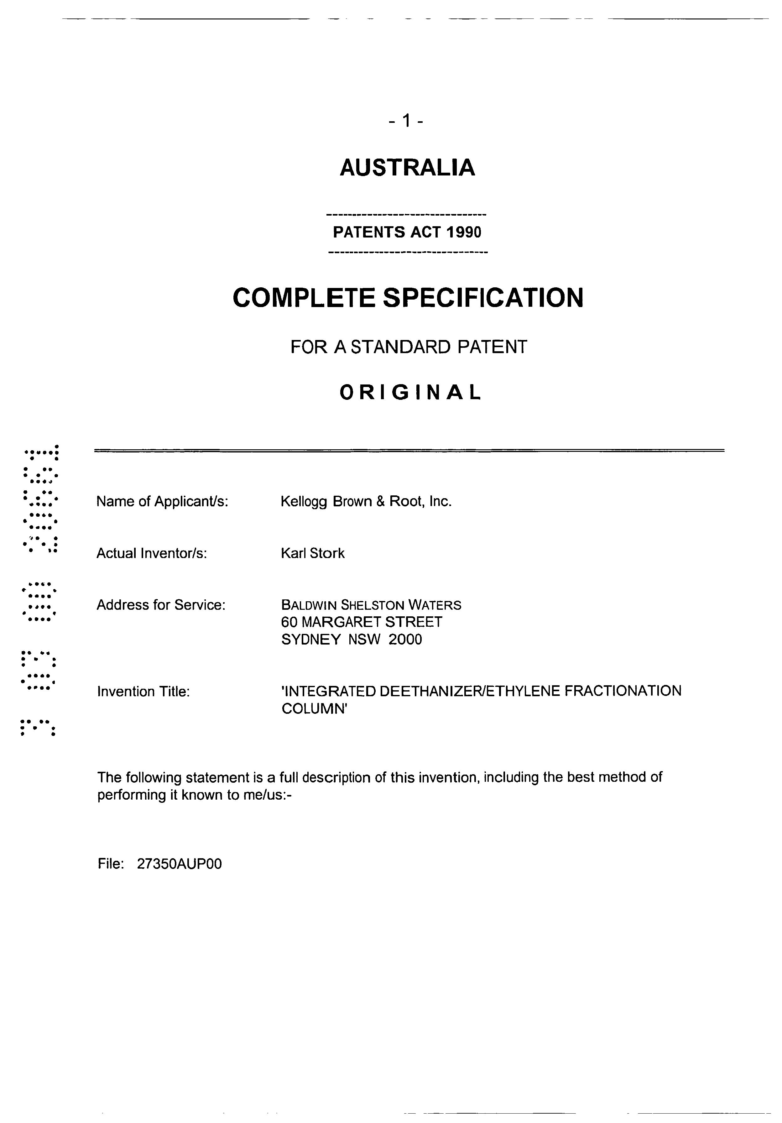 JP 2000273468 A - Integrated Deethanizer/ethylene