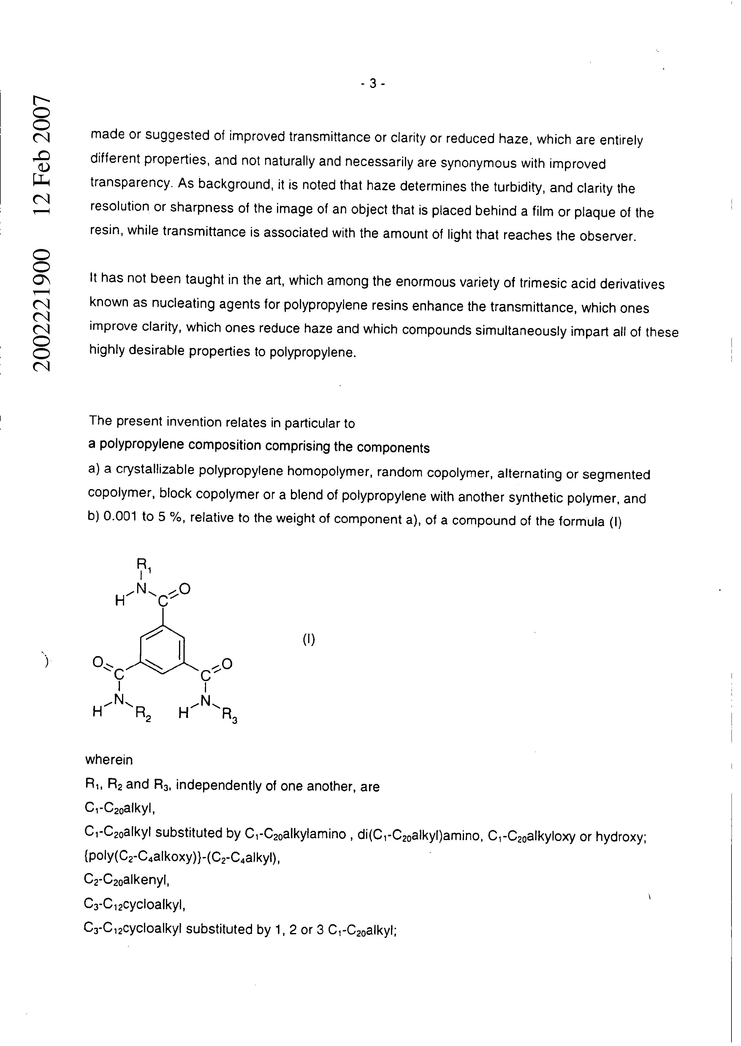 AU 2002/221900 B2 - Polypropylene Resin Compositions - The