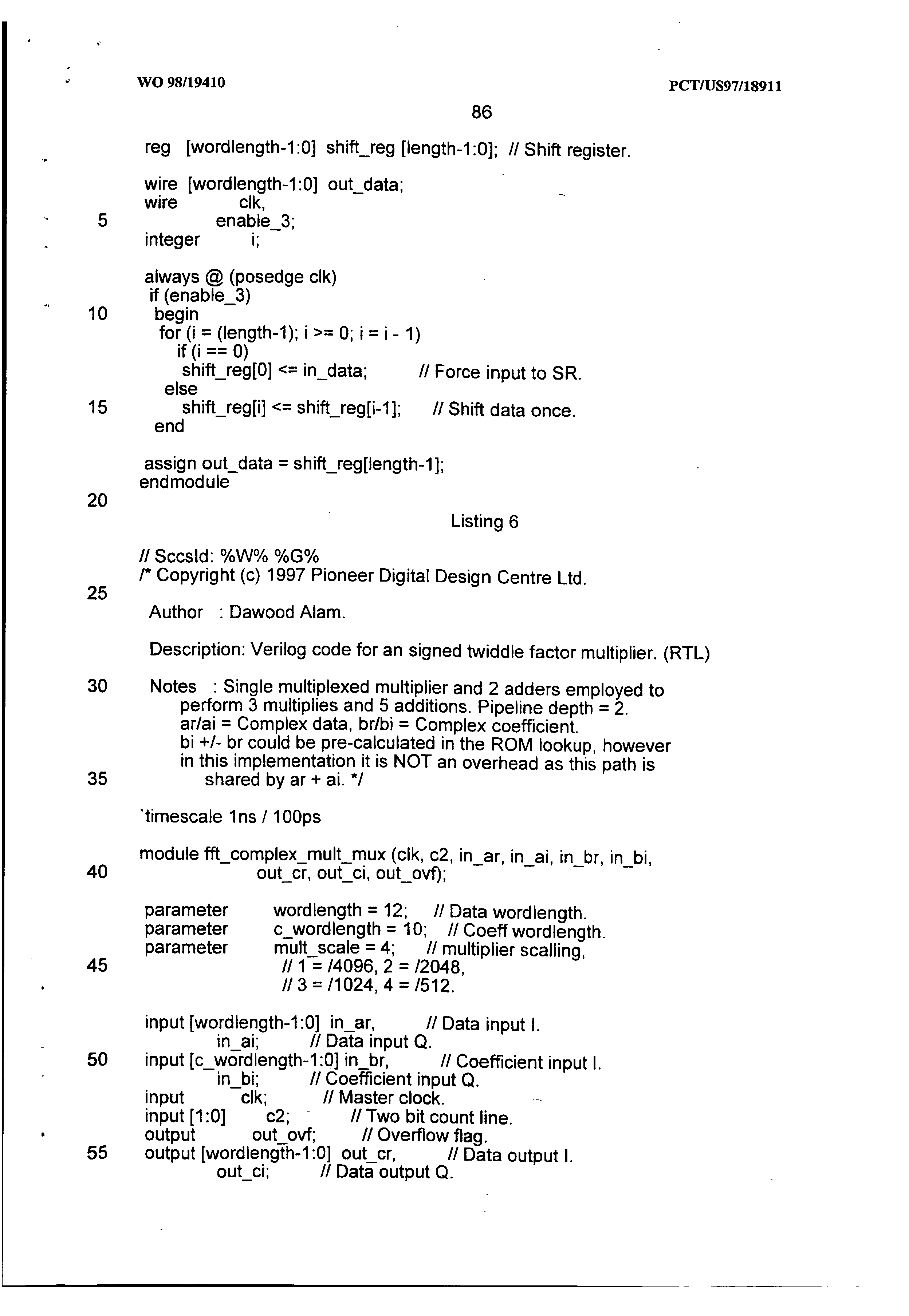 AU 727726 B2 - Single Chip Vlsi Implementation Of A Digital