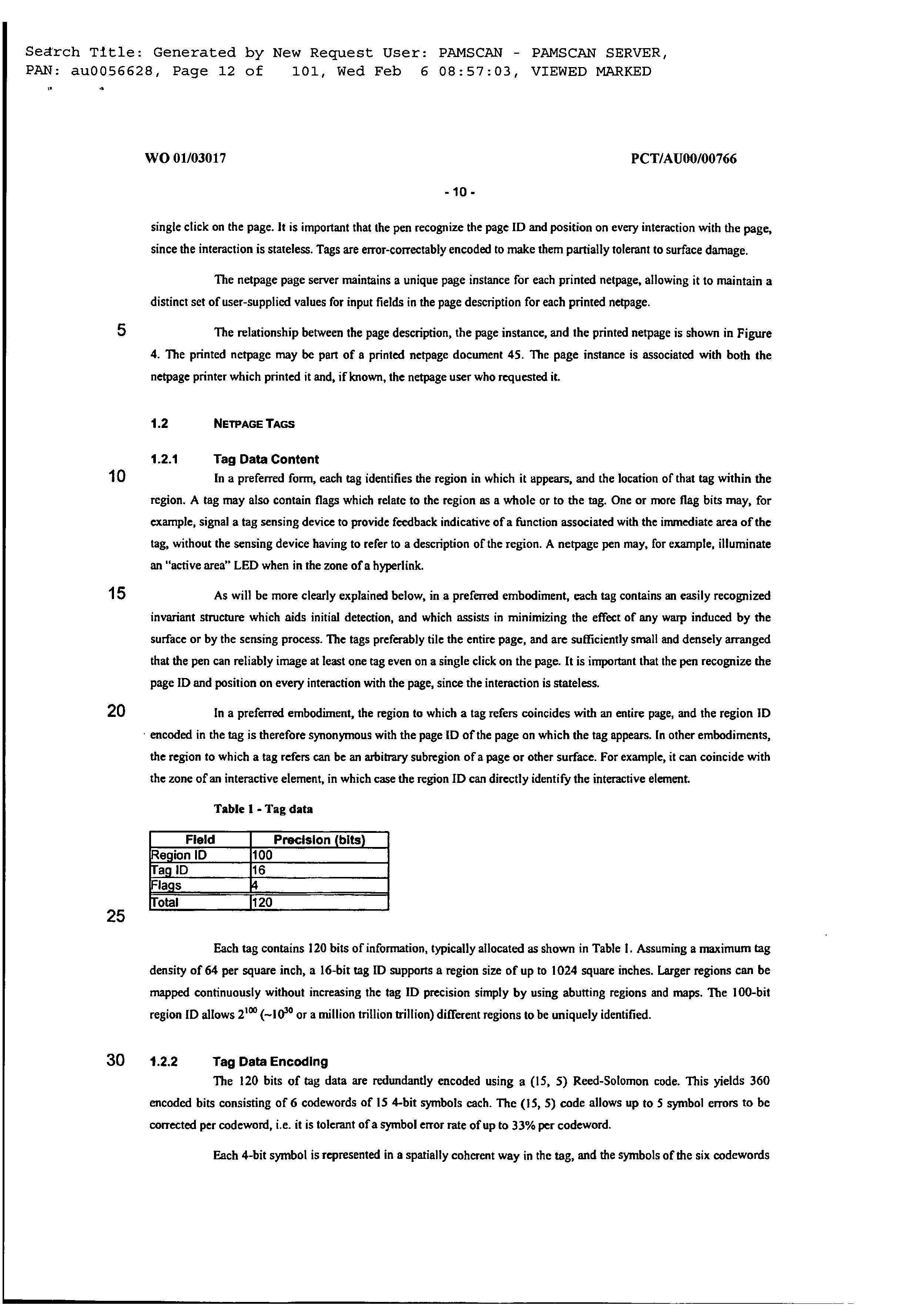 AU 761767 B2 - Method And System For User Registration On