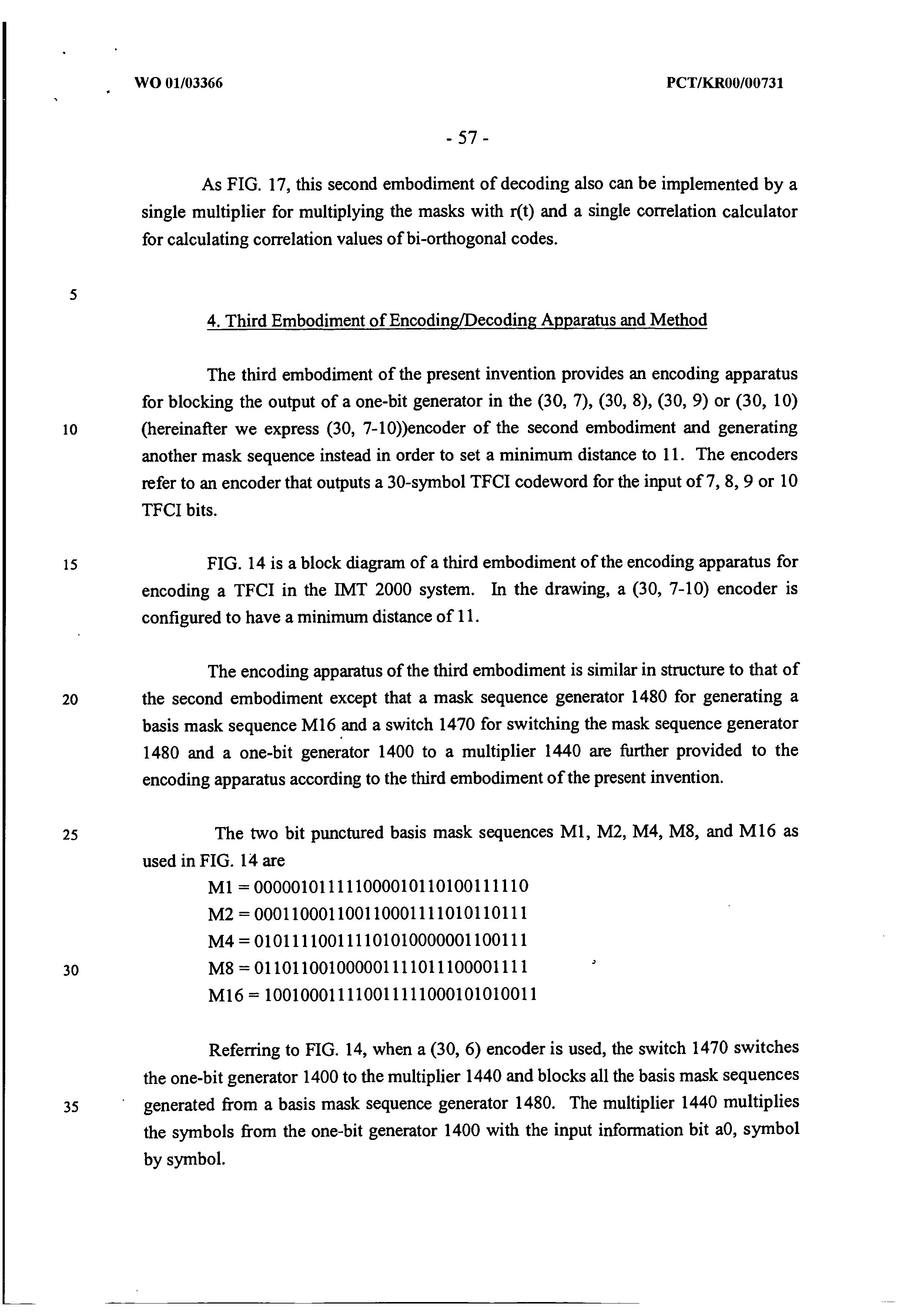 AU 765735 B2 - Apparatus And Method For Encoding/decoding Transport