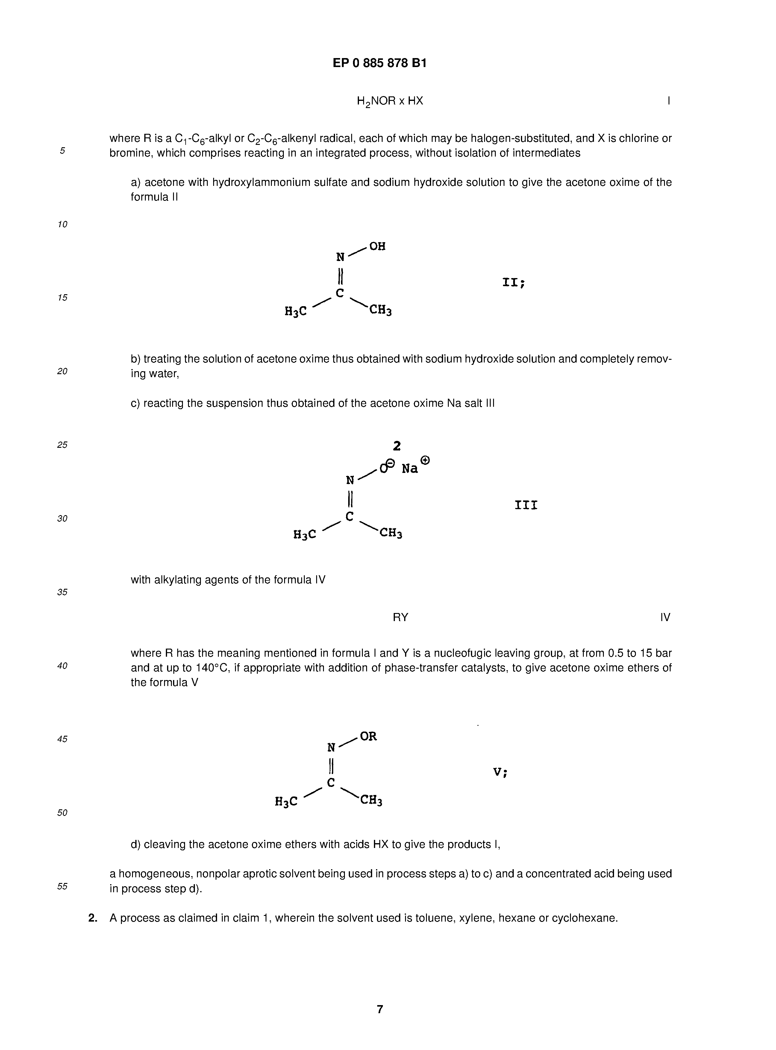 EP 0885878 B1 - Process For Preparing O-substituted