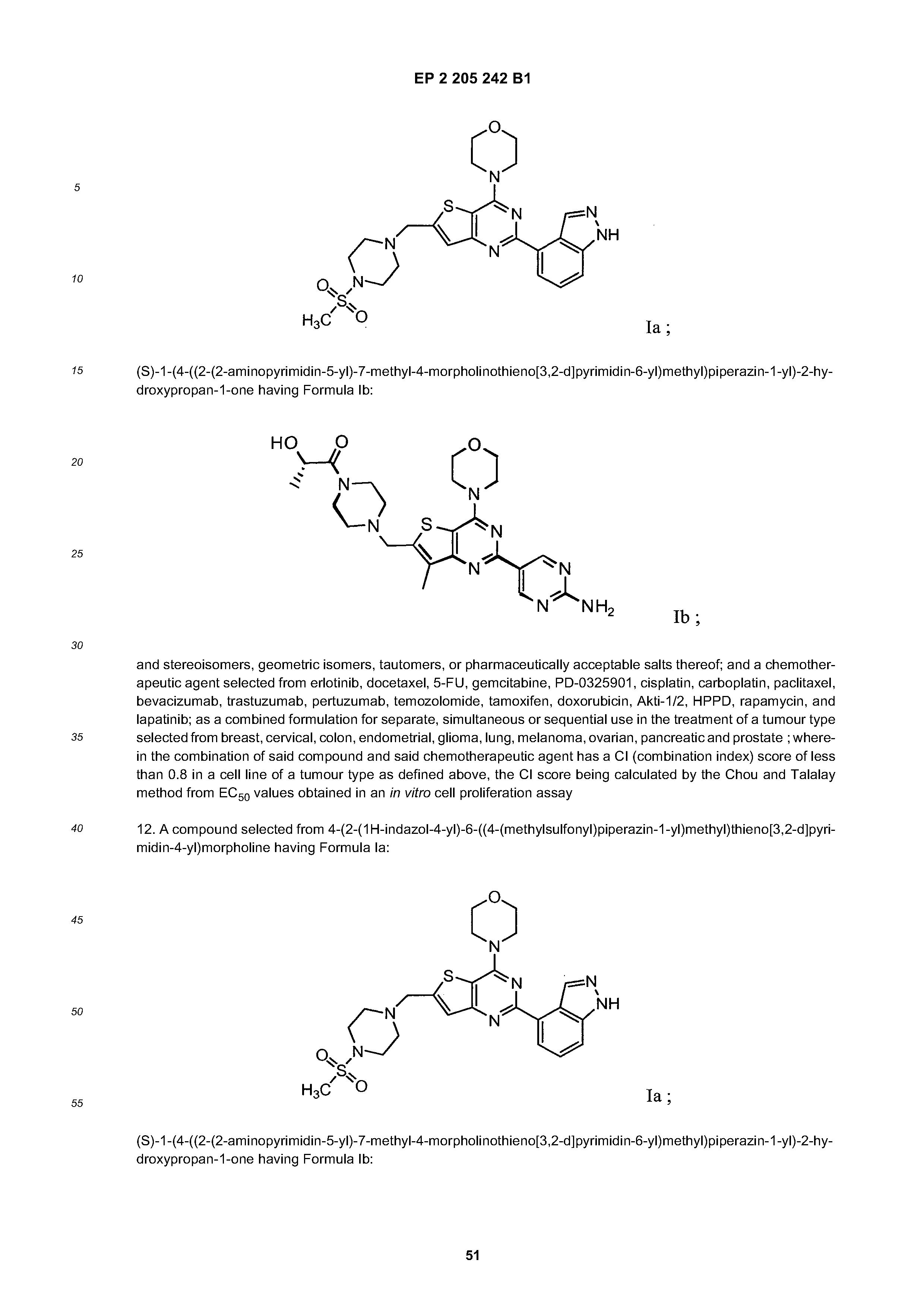 EP 2205242 B1 - Combinations Of Phosphoinositide 3-kinase Inhibitor