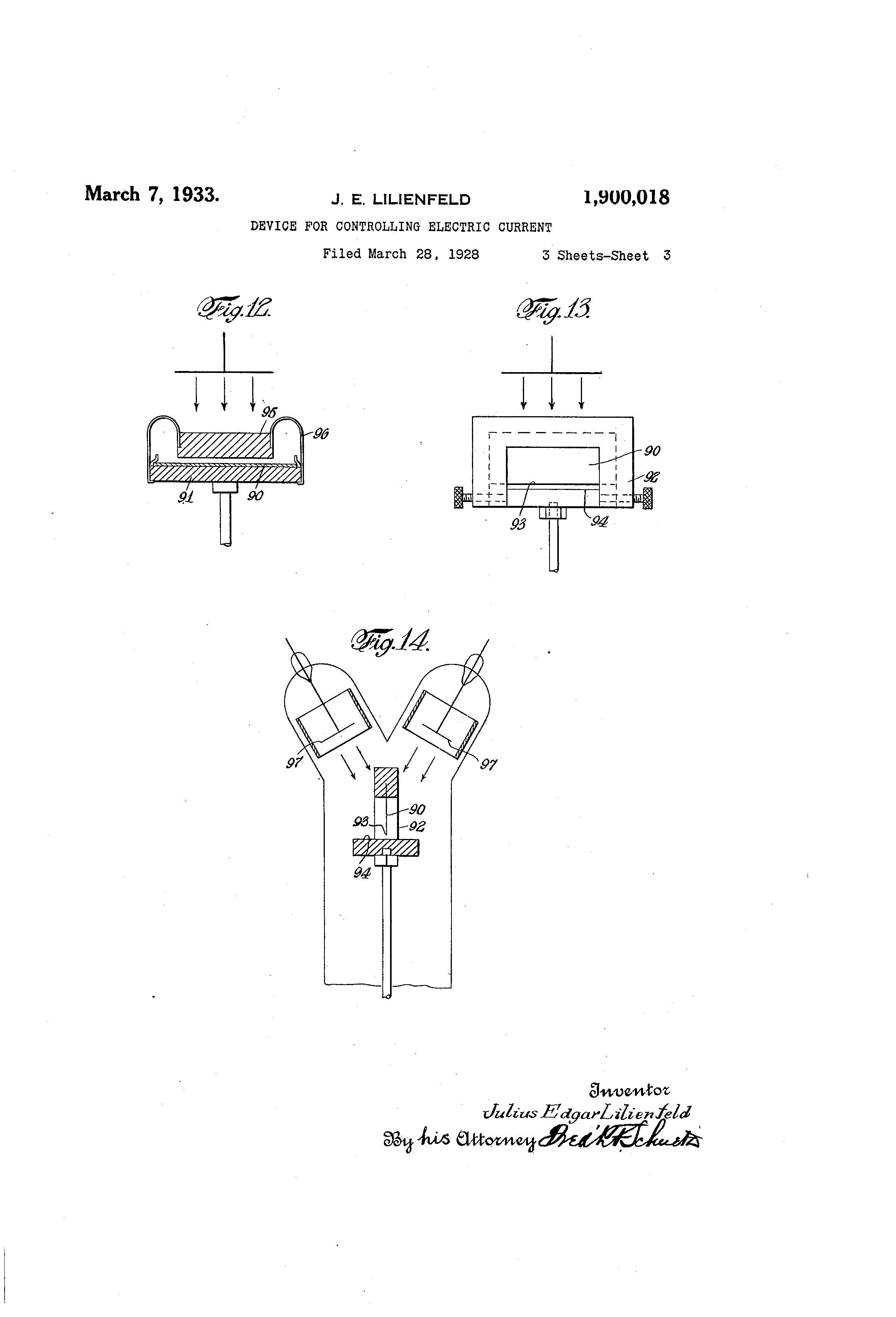 US 1900018 A - Device For Controlling Electric Current - The Lens ...