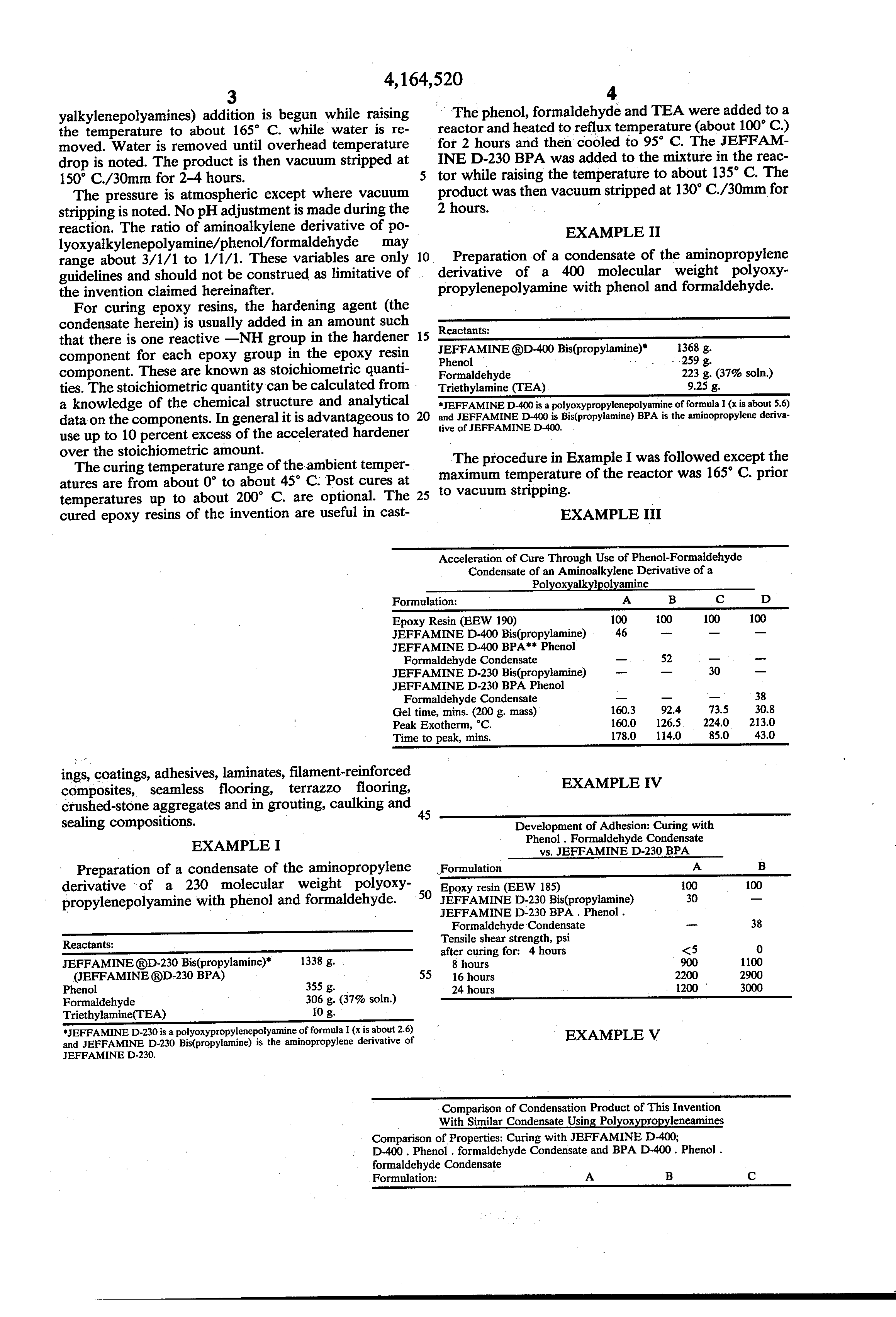 US 4164520 A - Accelerated Cure Of Epoxy Resins - The Lens