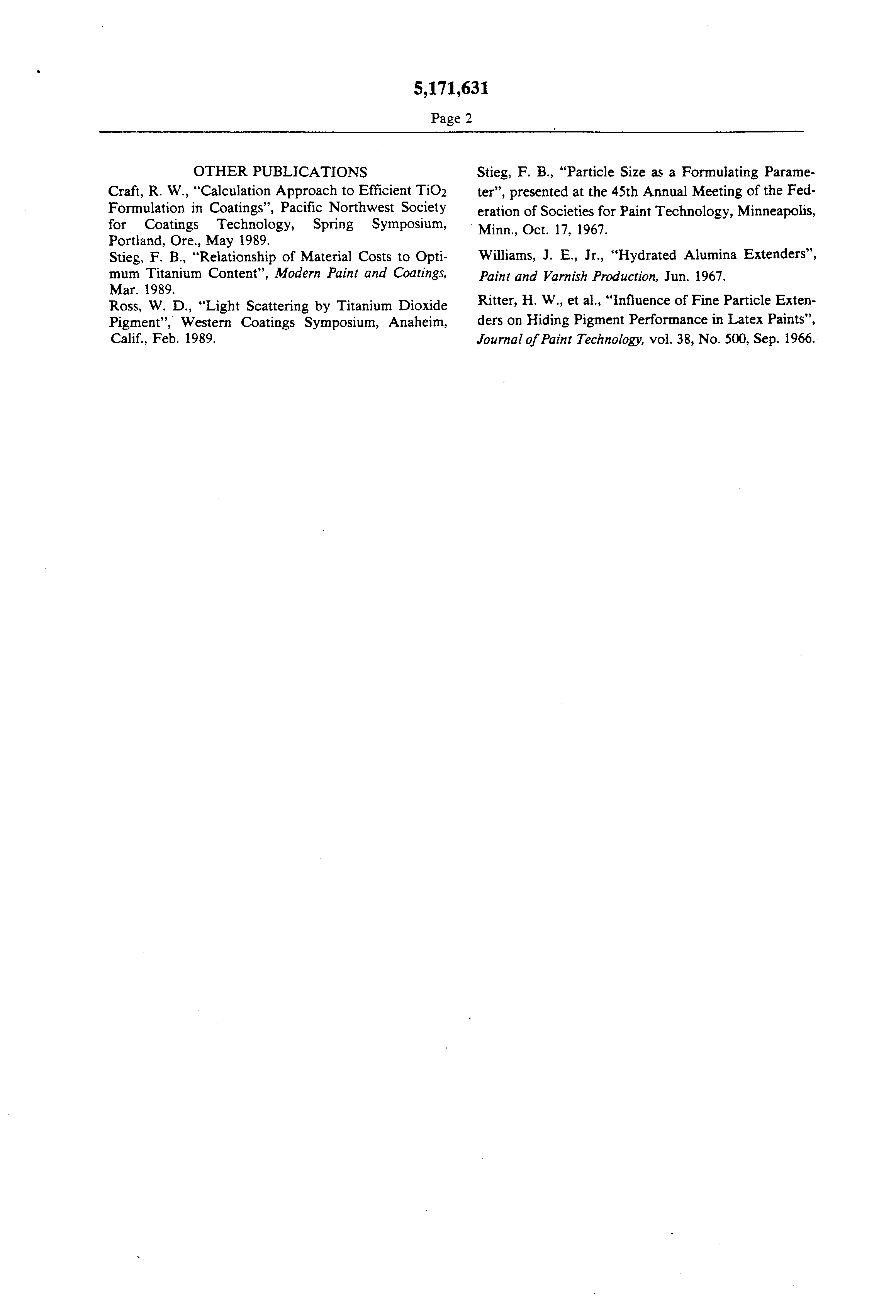 US 5171631 A - Spacer/extender For Titanium Dioxide In