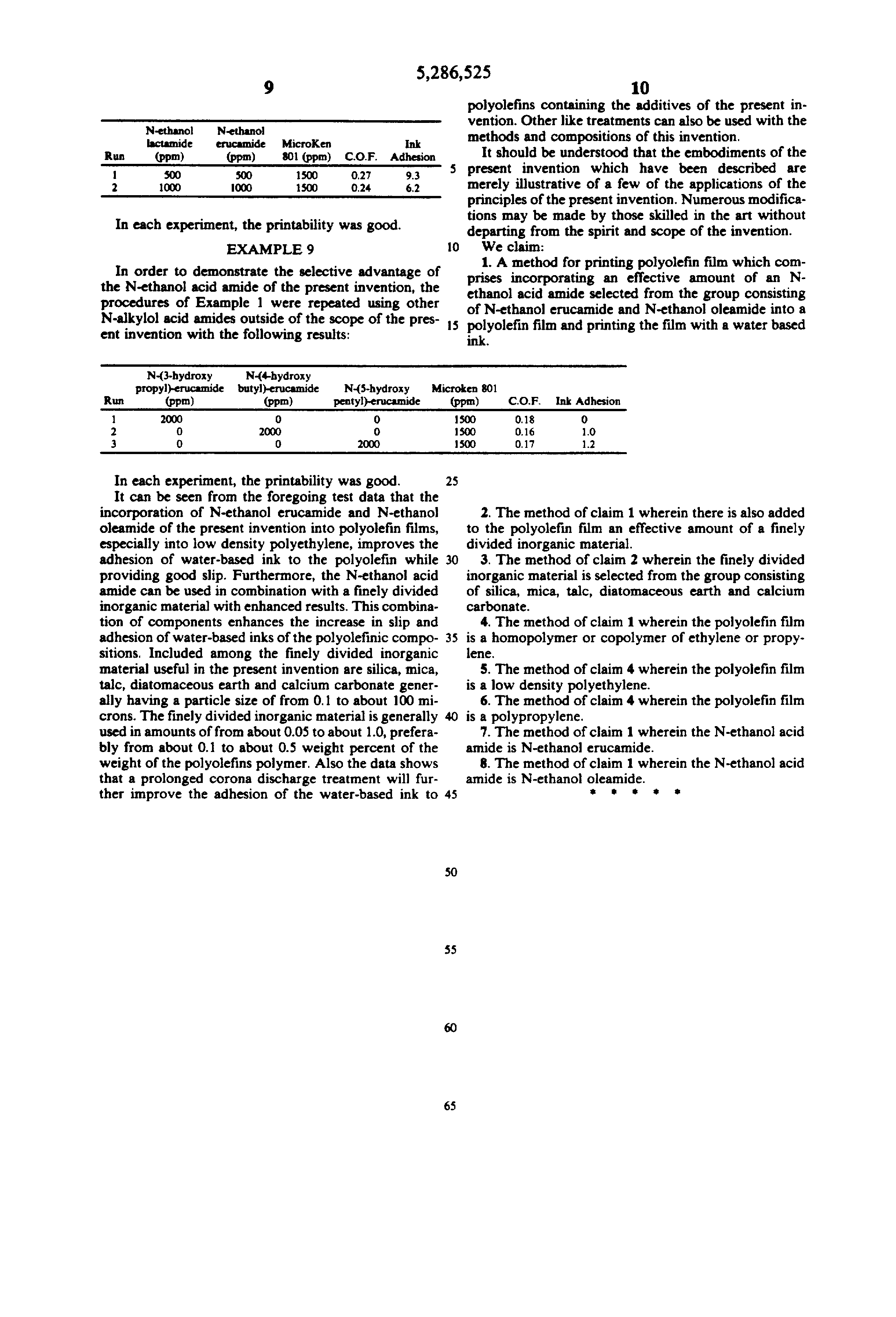 US 5286525 A - Method Of Improving The Printing Of Polyolefins With