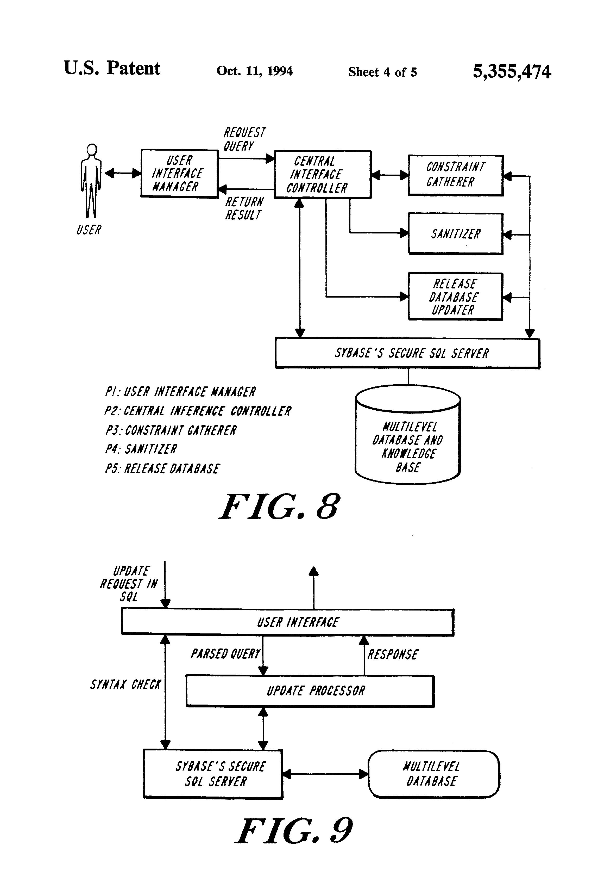 US 5355474 A - System For Multilevel Secure Database
