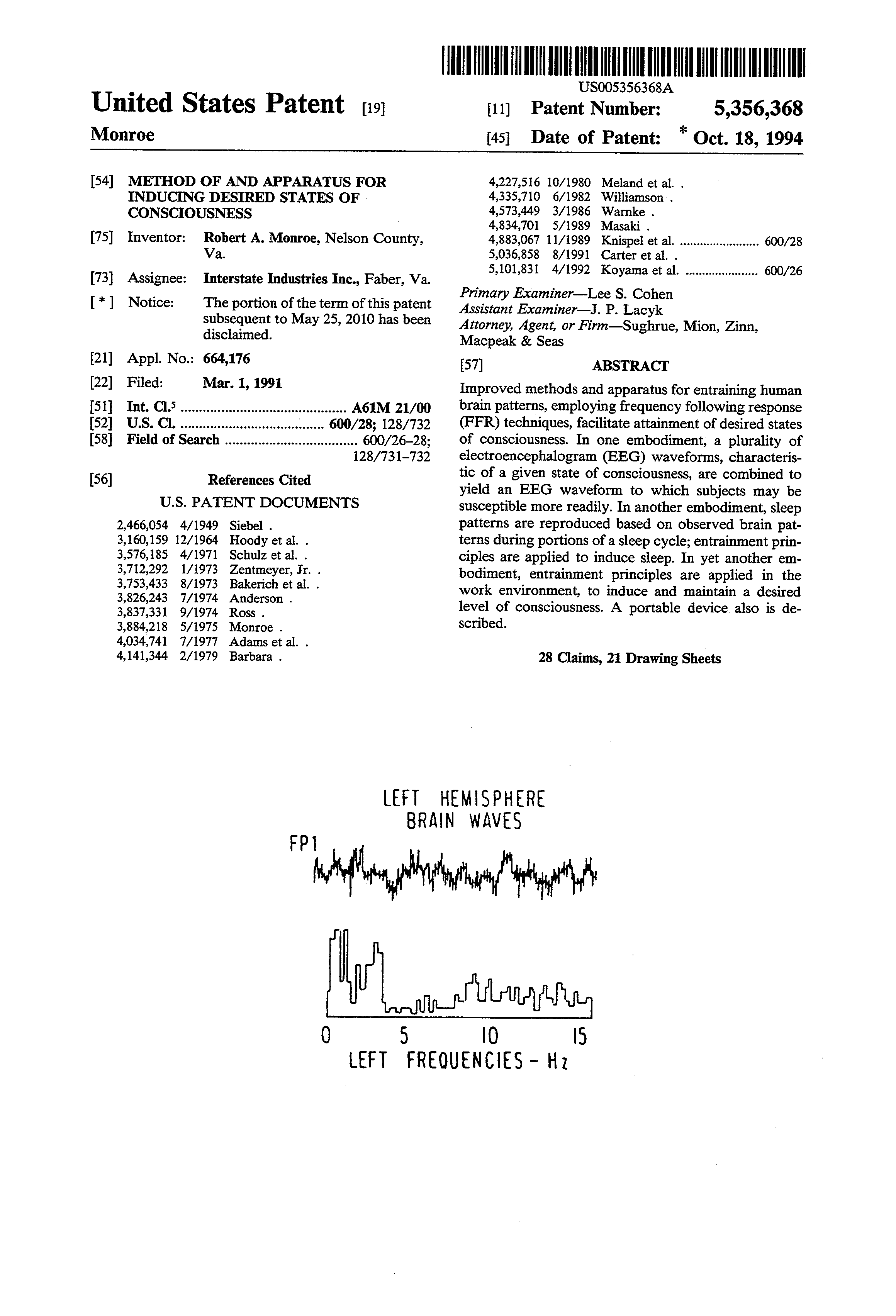 US 5356368 A - Method Of And Apparatus For Inducing Desired