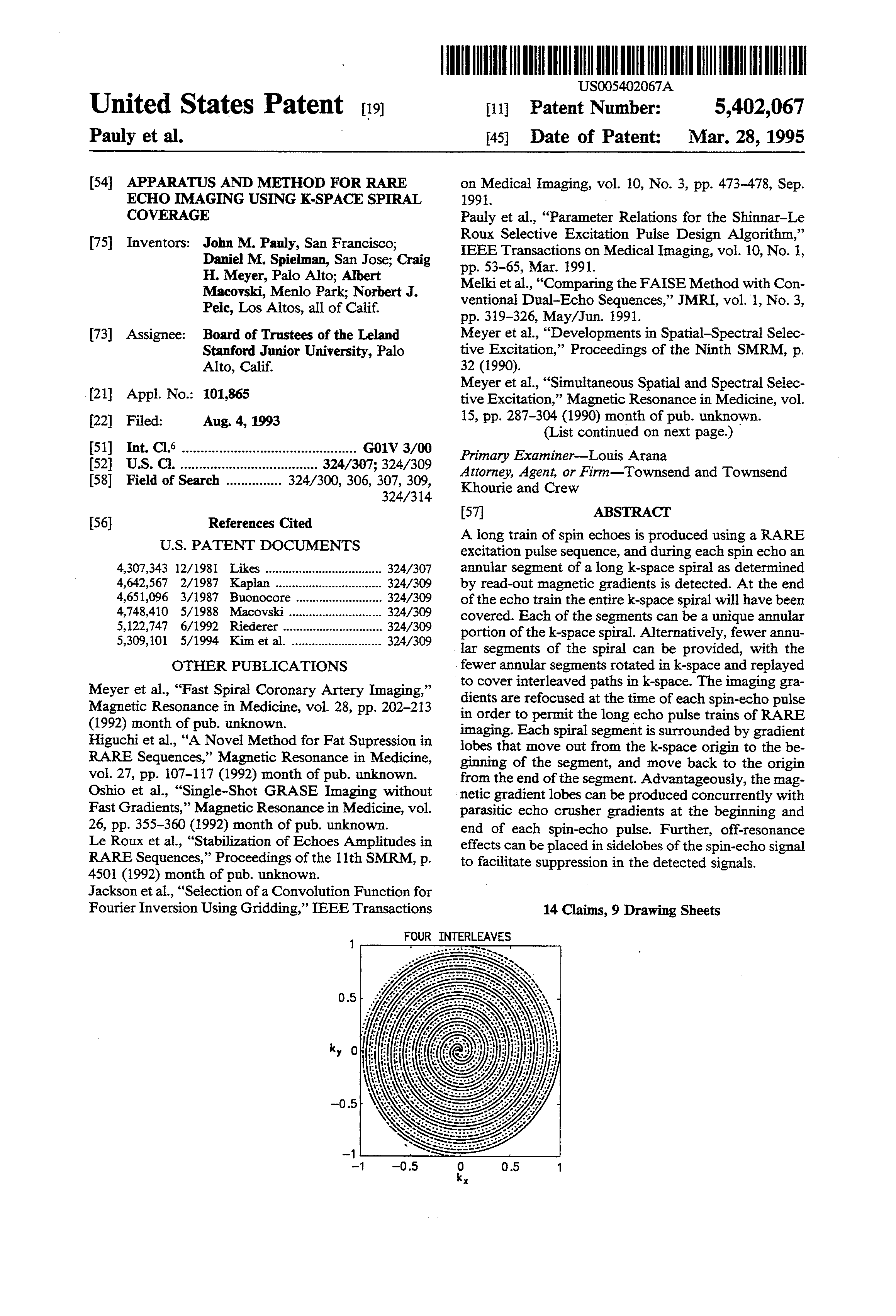 US 5402067 A - Apparatus And Method For Rare Echo Imaging