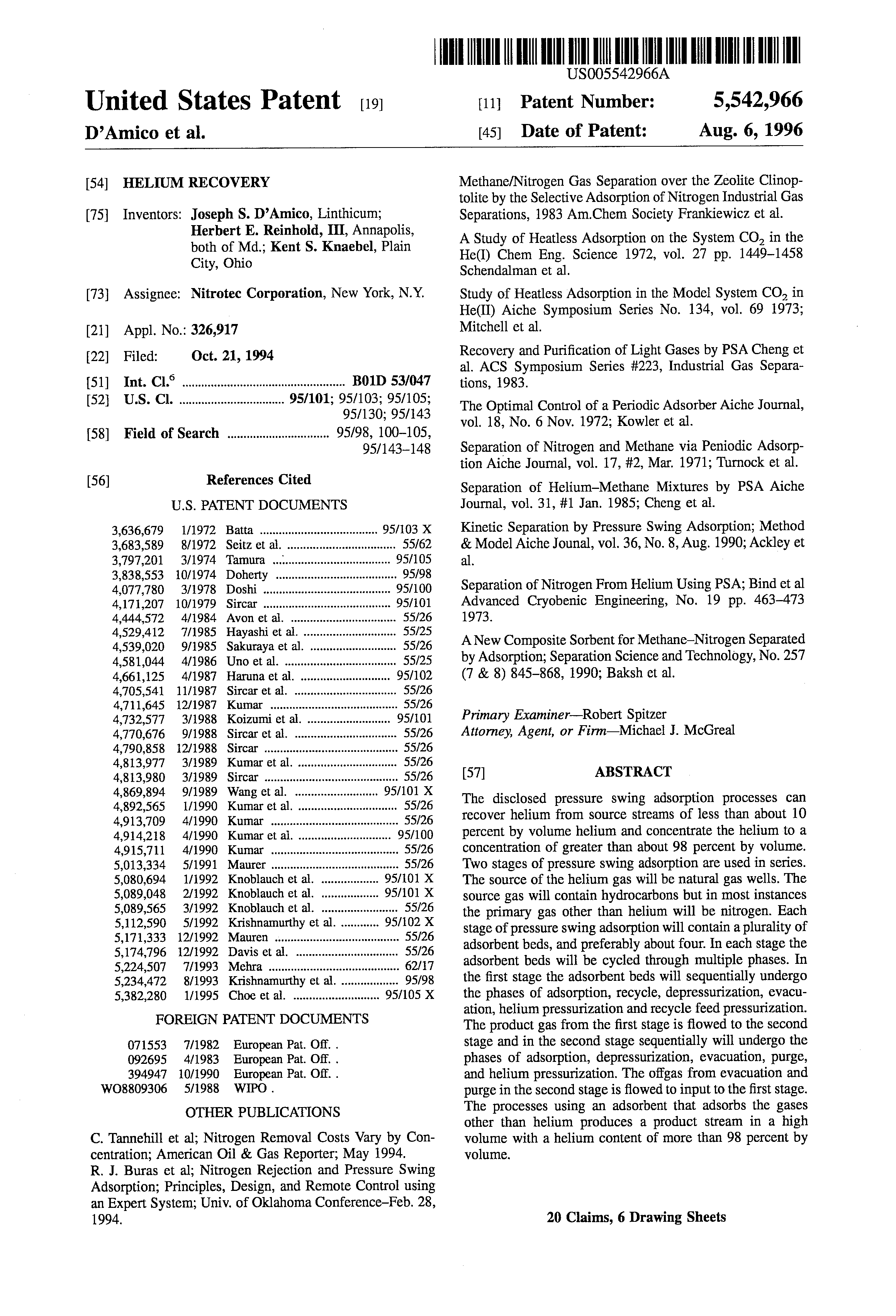 US 5542966 A - Helium Recovery - The Lens - Free & Open