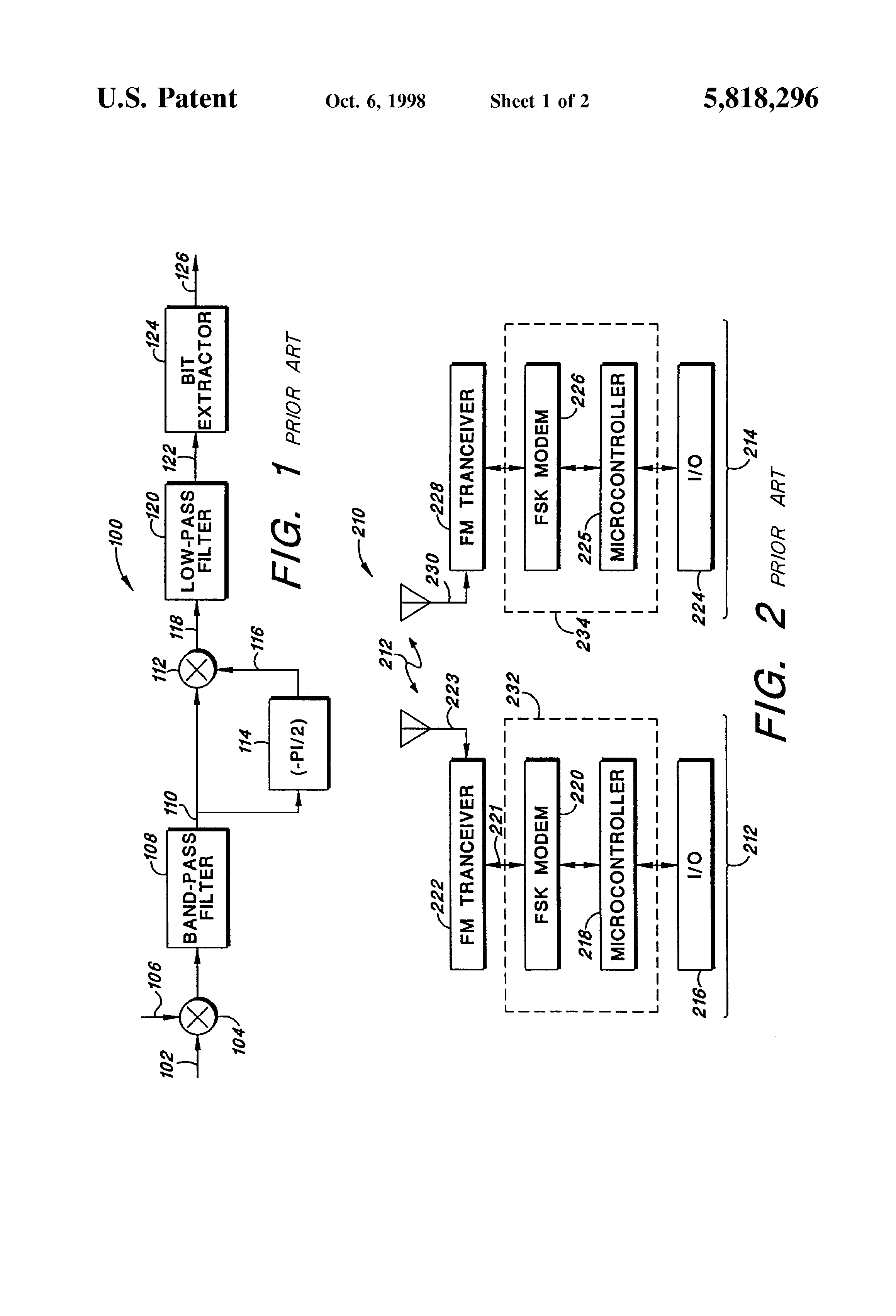 Us 5818296 A Fsk Demodulator Using Goertzels Discrete Fourier Previous Next