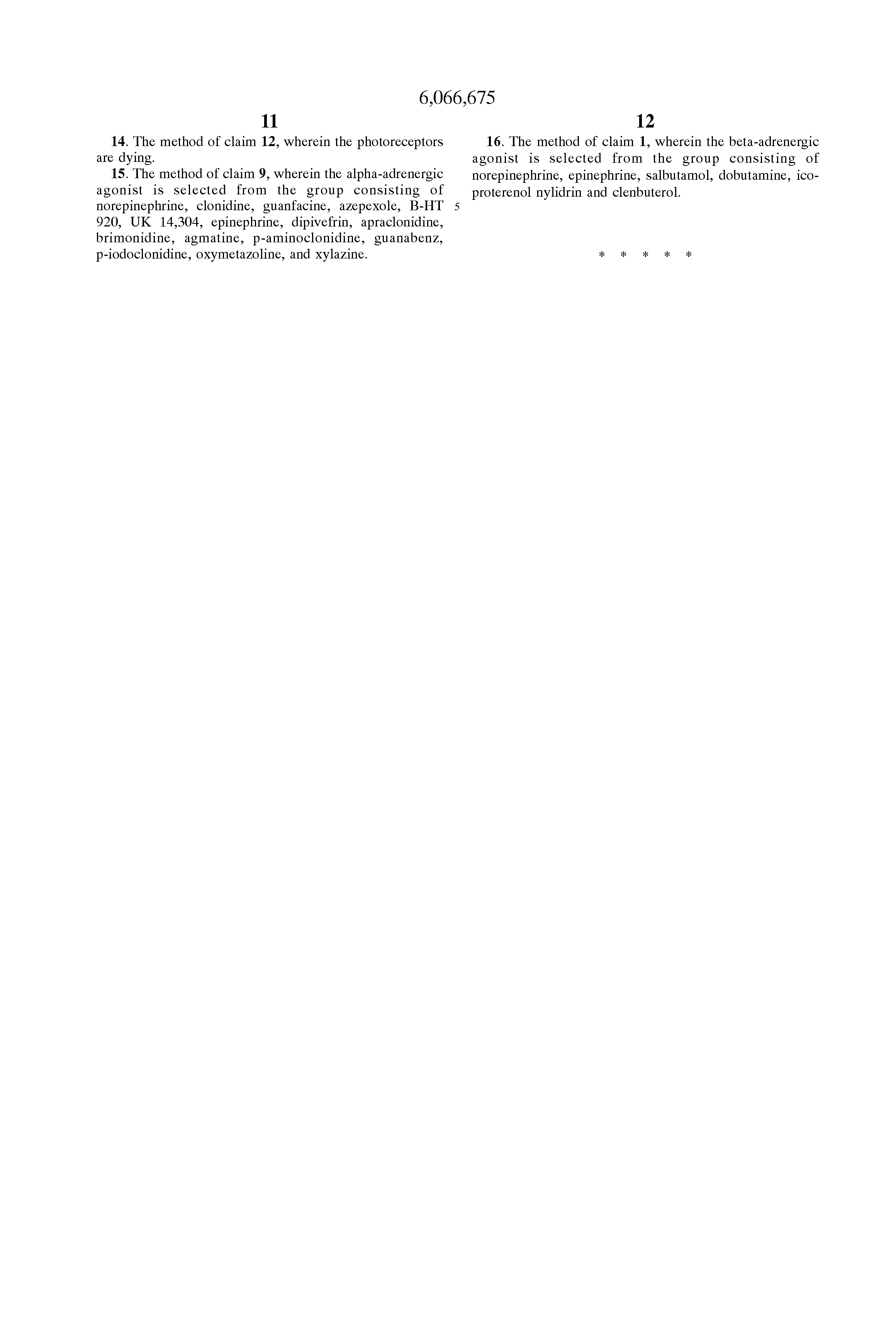 US 6066675 A - Method For Treatment Of Retinal Diseases
