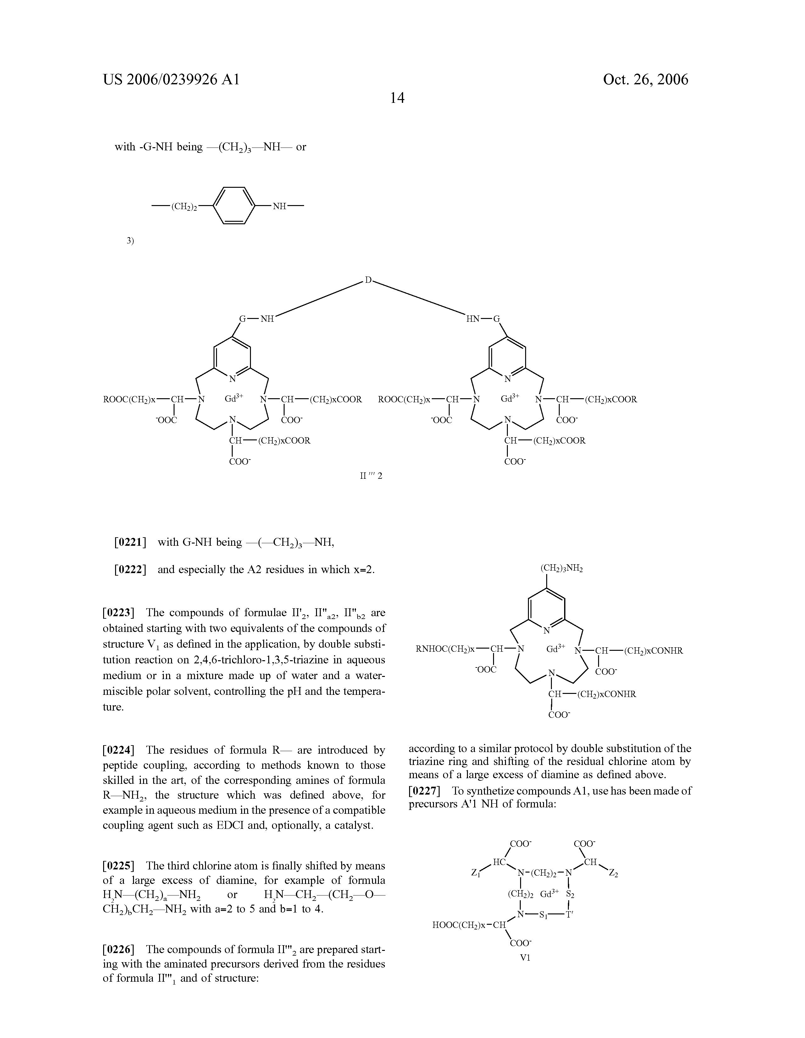 US 2006/0239926 A1 - Specific High-relaxivity Compounds - The Lens