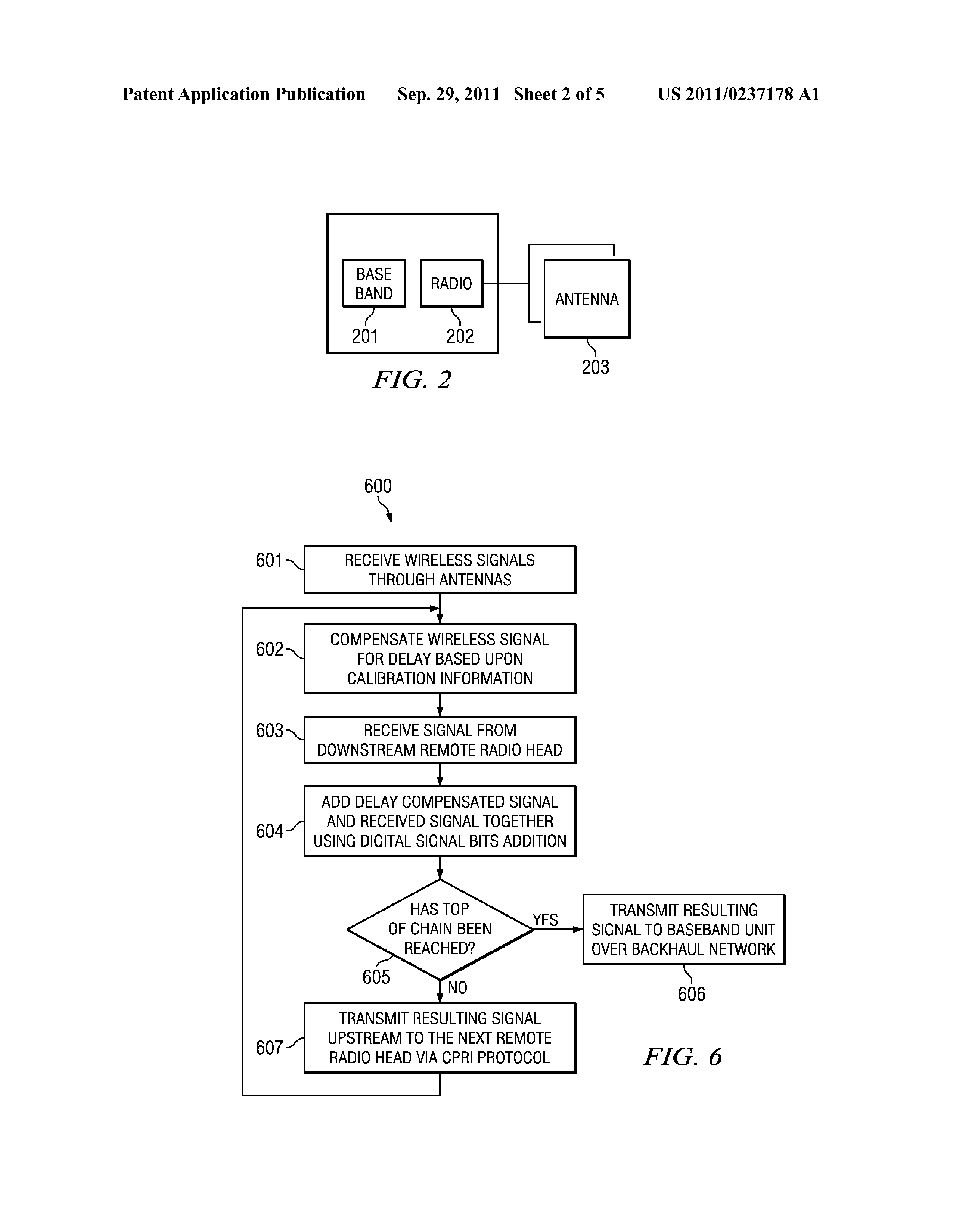 US 2011/0237178 A1 - Method And System For Cpri Cascading In