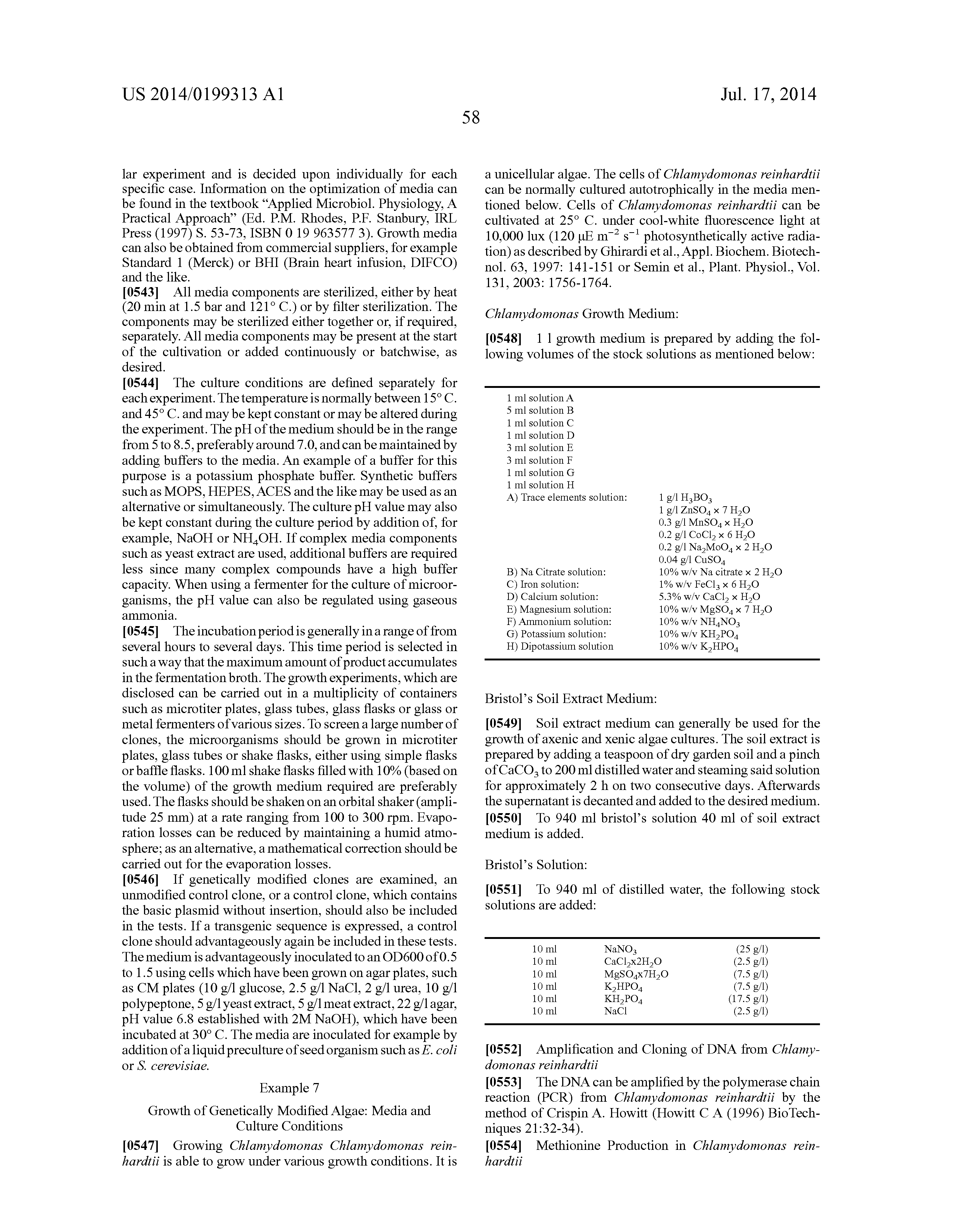 US 2014/0199313 A1 - Process For The Production Of Fine