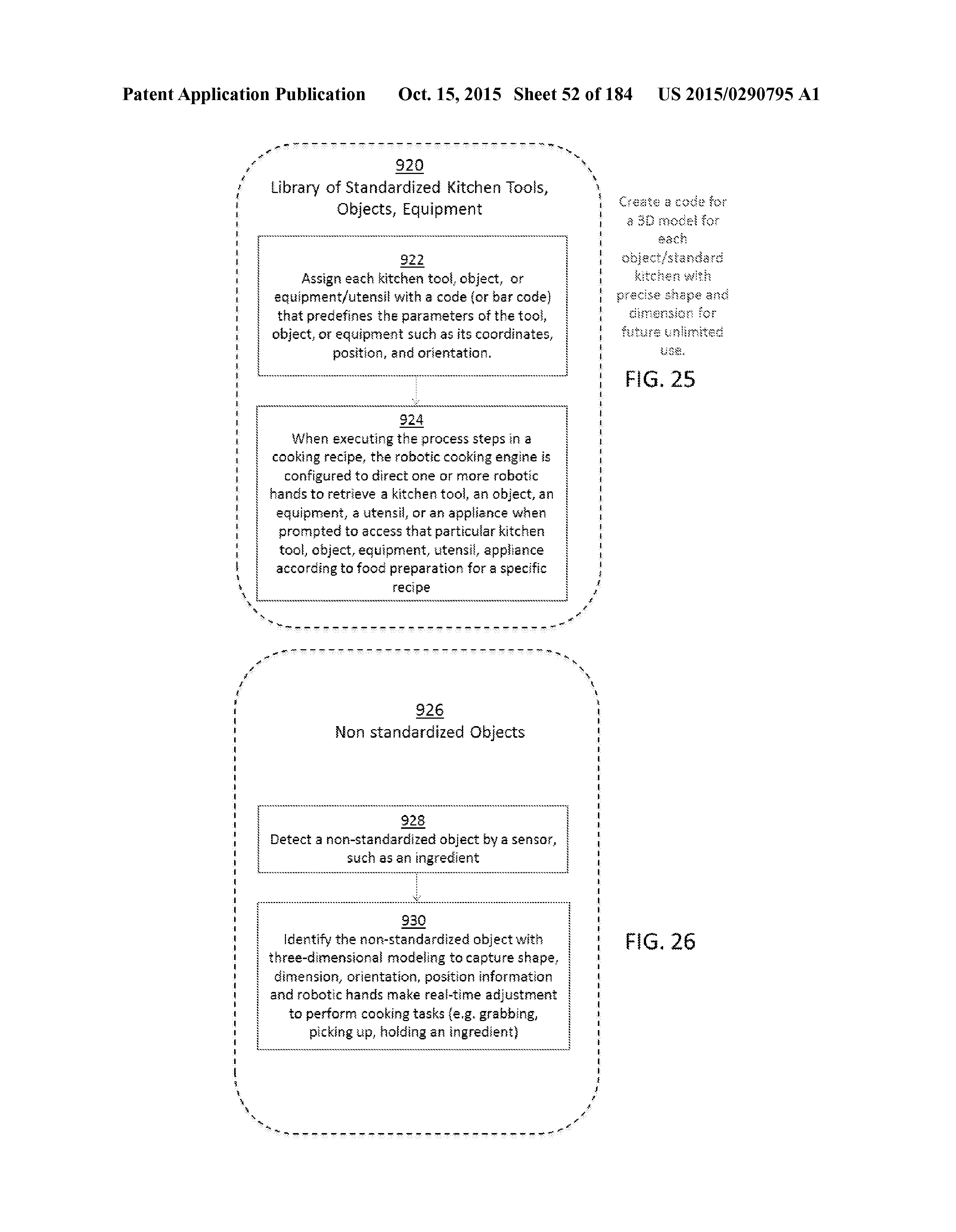 US 2015/0290795 A1 - Methods And Systems For Food