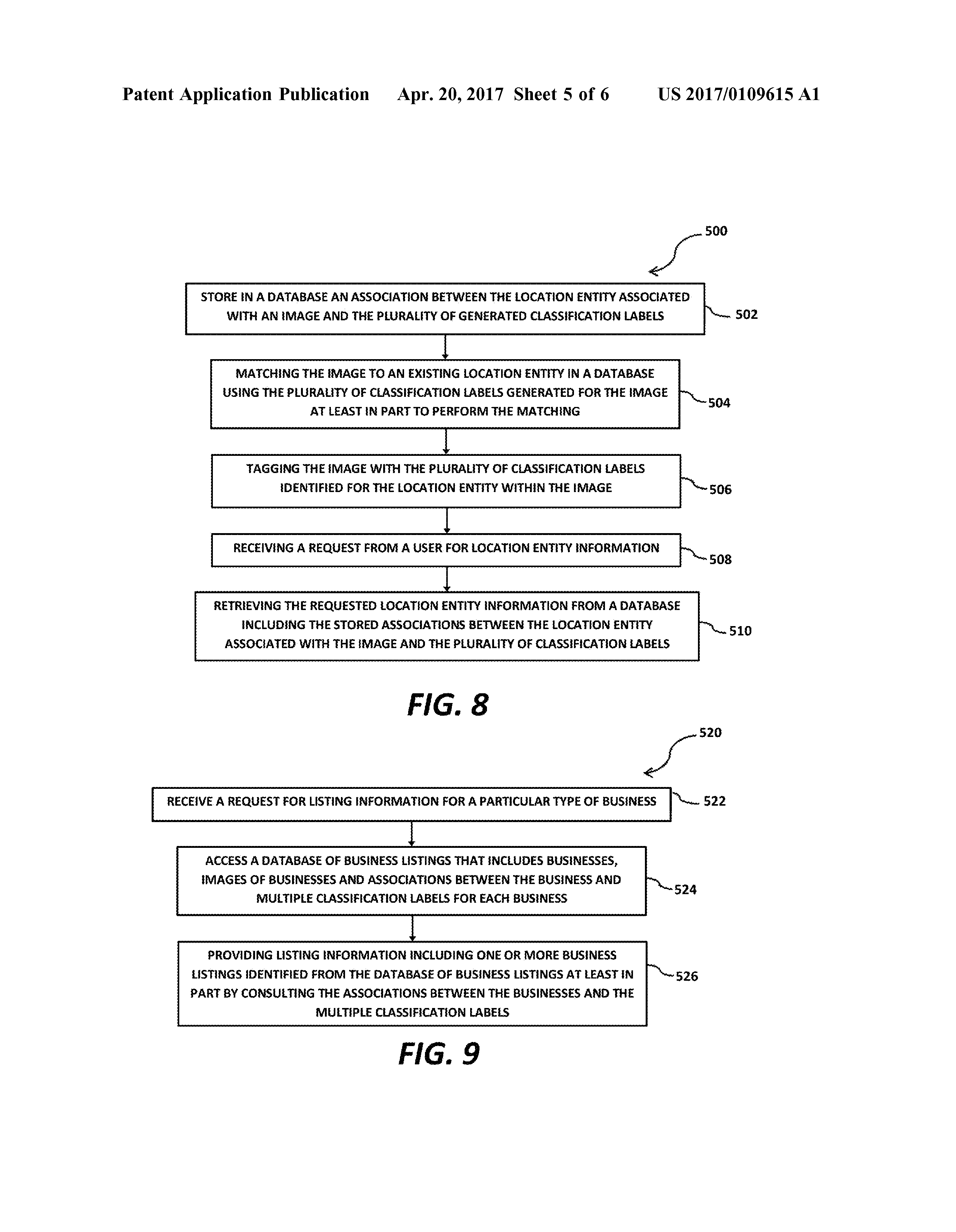 US 2017/0109615 A1 - Systems And Methods For Automatically