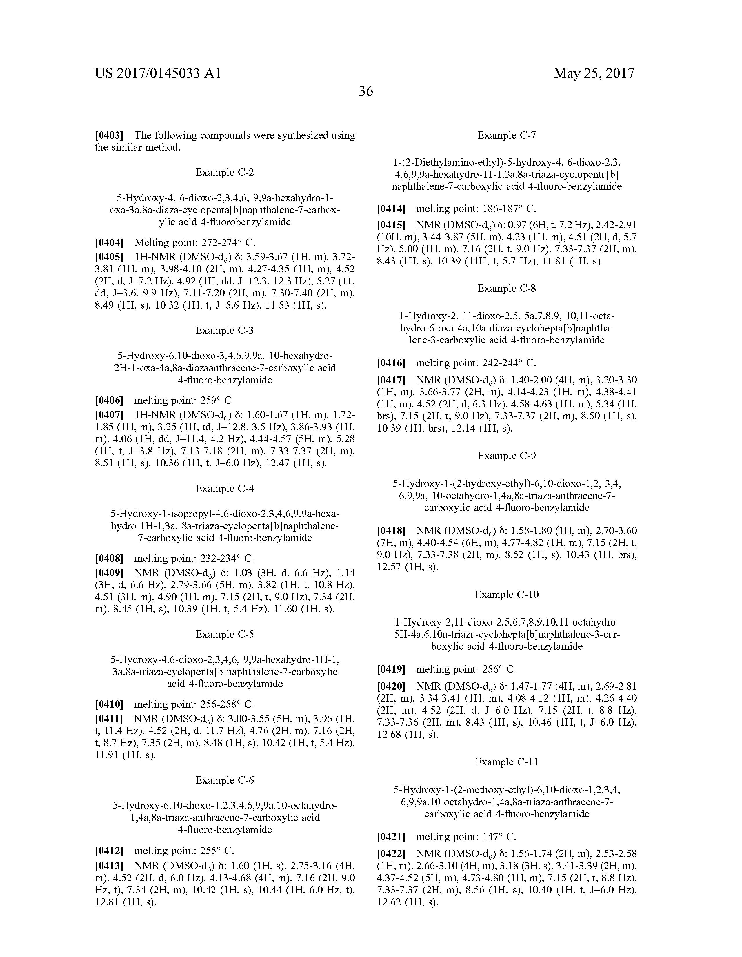 US 2016/0137666 A1 - Substituted Cyclopenta[4,5]Oxazolo[3,2