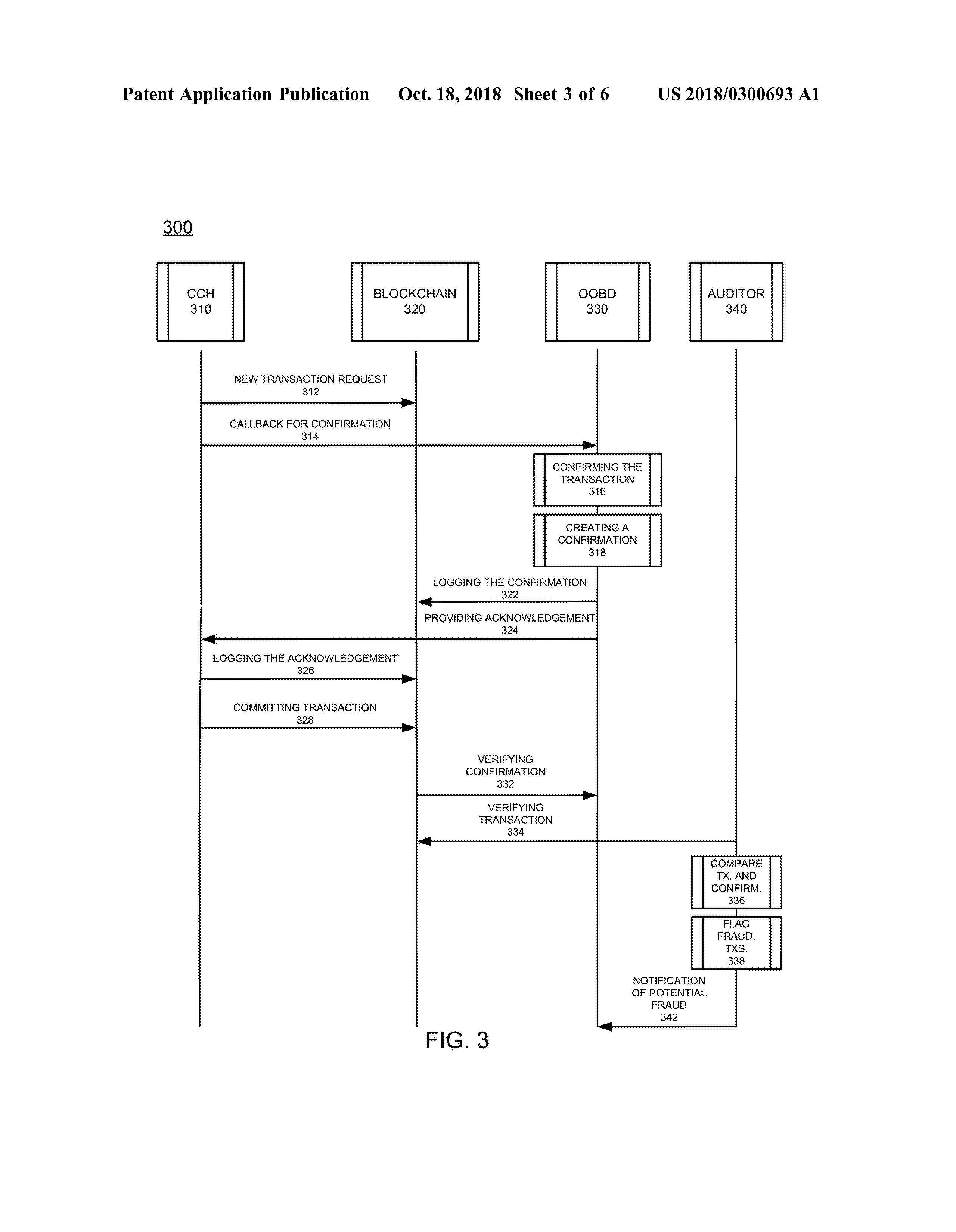 US 2018/0300693 A1 - Providing Out-of-band Verification For