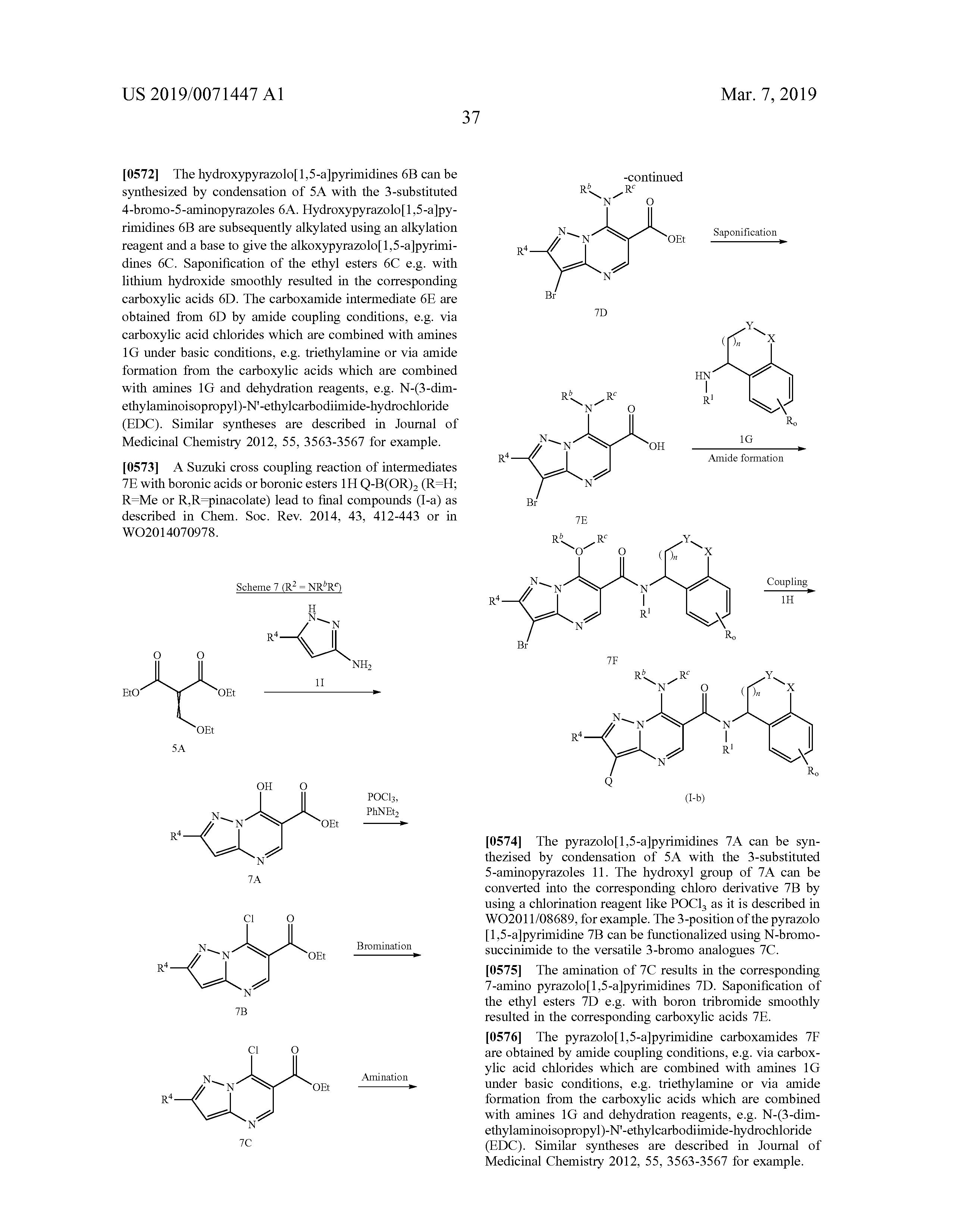 UY 37201 A - Nuevos Derivados De Pirazolopirimidina - The