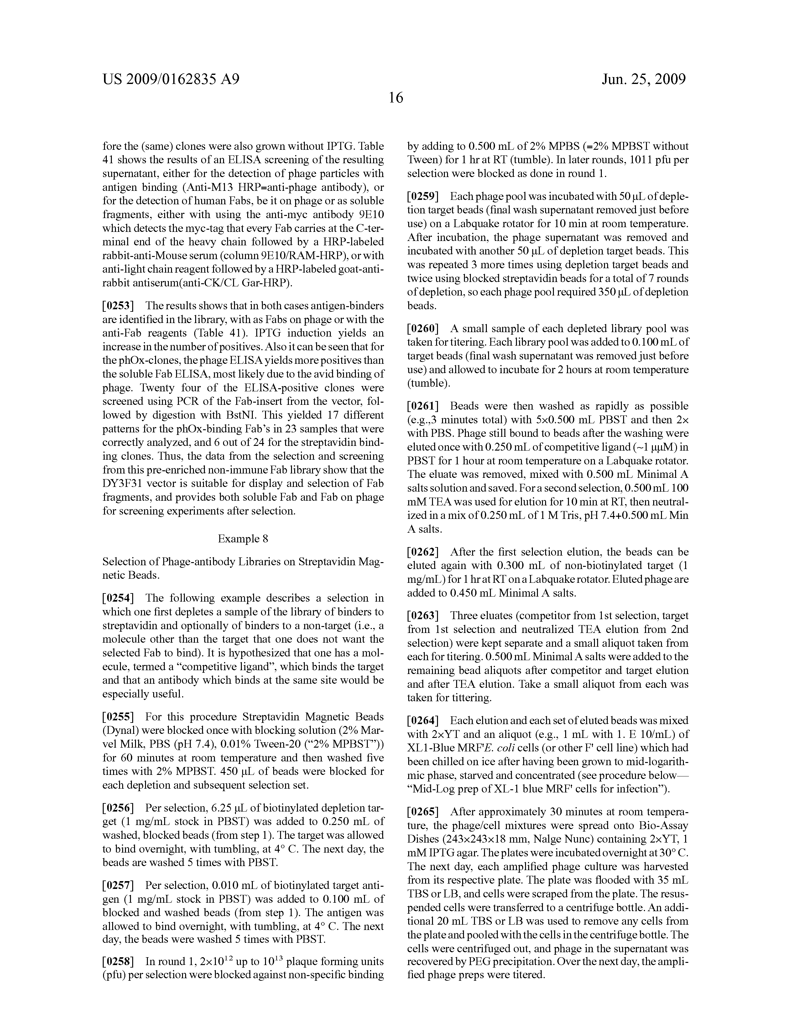 US 2009 0162835 A9 20090625 - Novel Methods Of Constructing