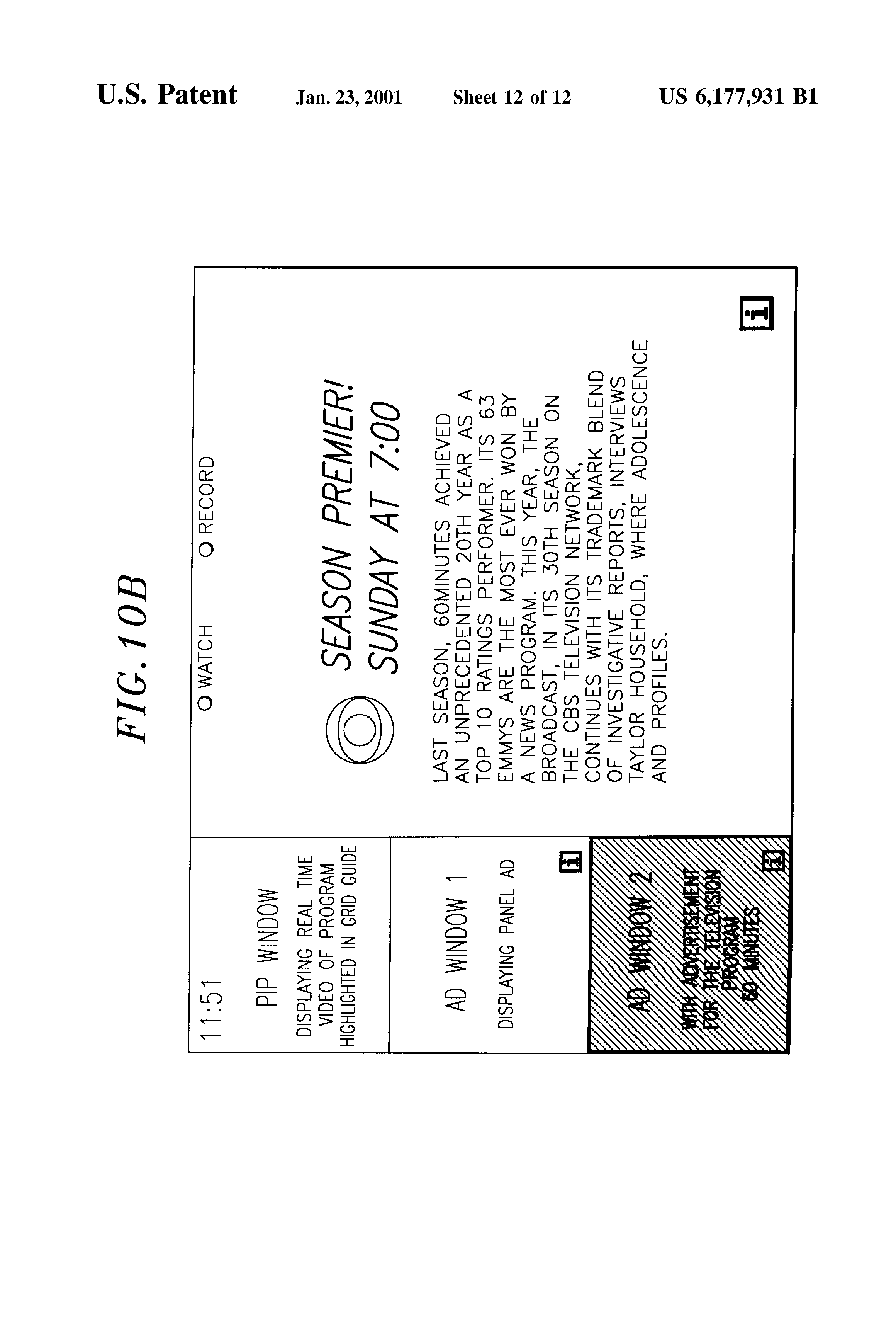 US 6177931 B1 - Systems And Methods For Displaying And Recording