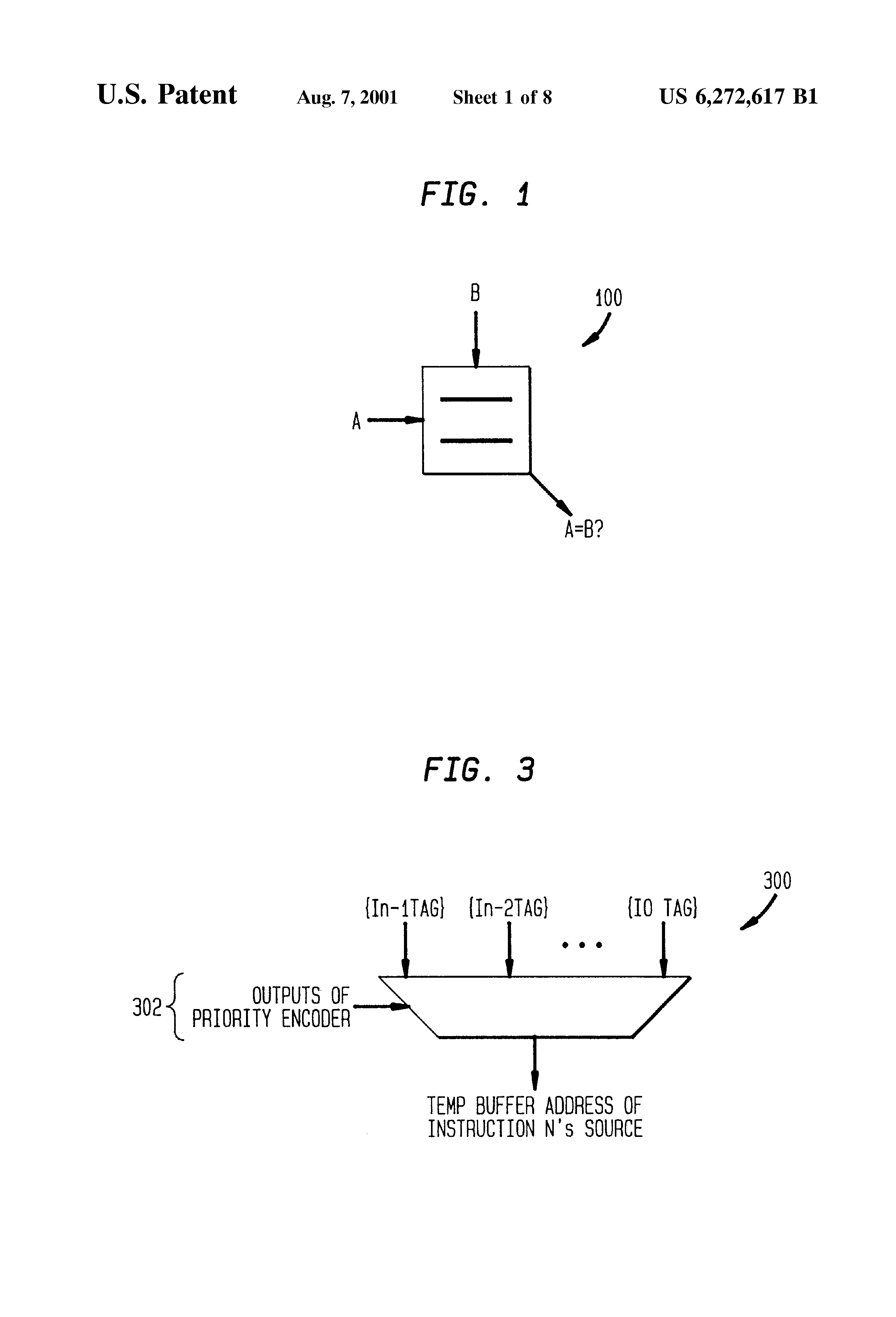 Us 6272617 B1 System And Method For Register Renaming The Lens Logic Diagram Of Priority Encoder Previous Next