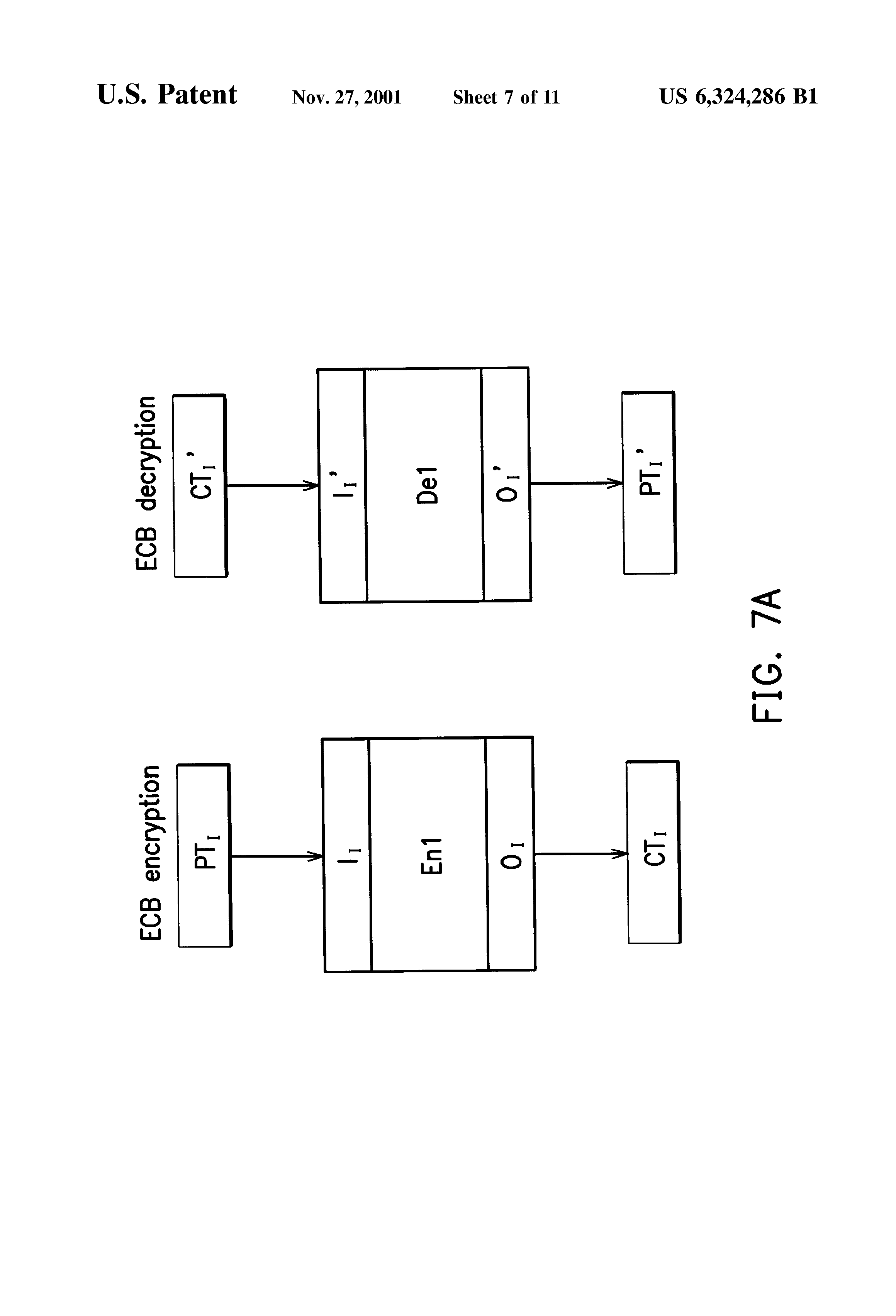 US 6324286 B1 - Des Cipher Processor For Full Duplex