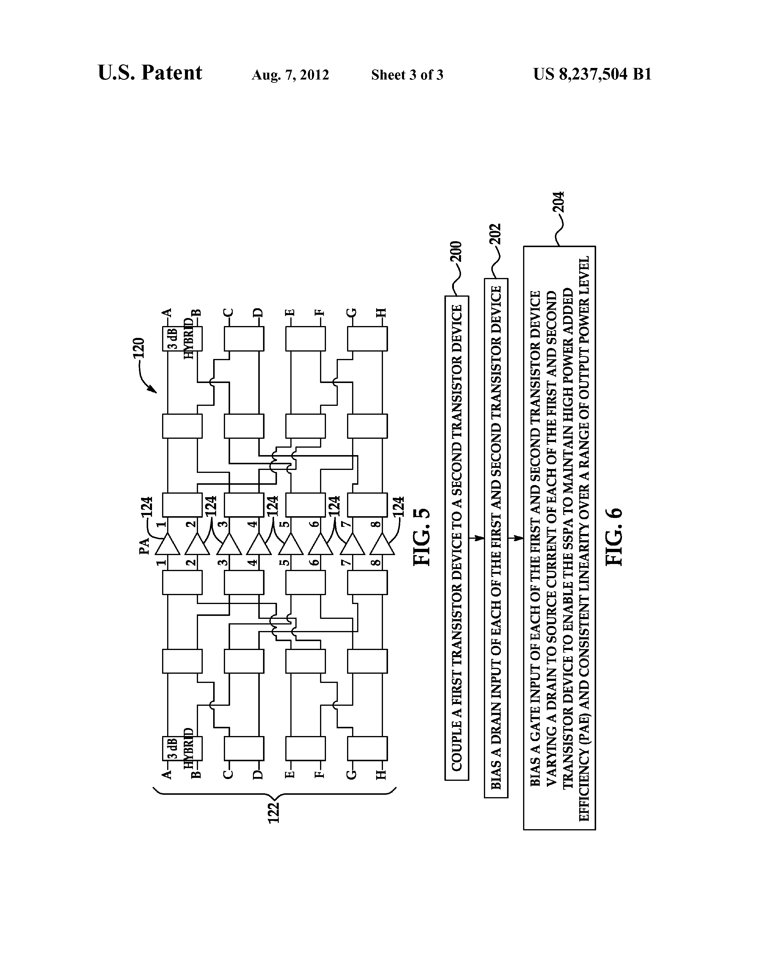 Us 8237504 B1 Microwave Variable Power Solid State Amplifier Input Transistor And Gate Previous Next
