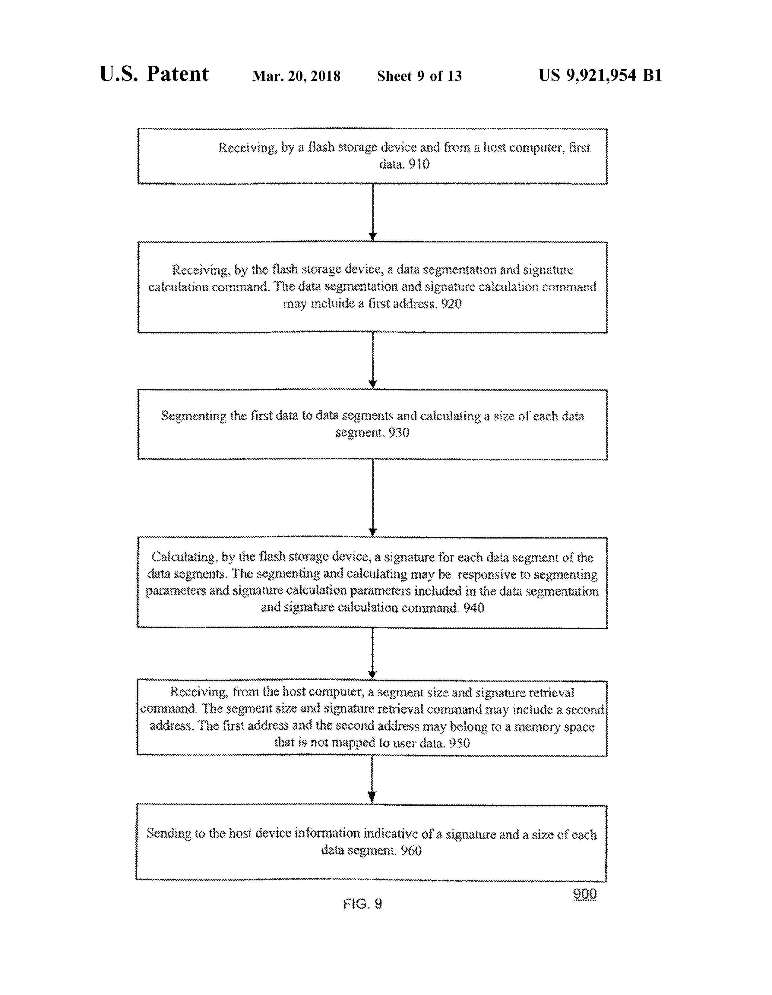 US 9921954 B1 - Method And System For Split Flash Memory