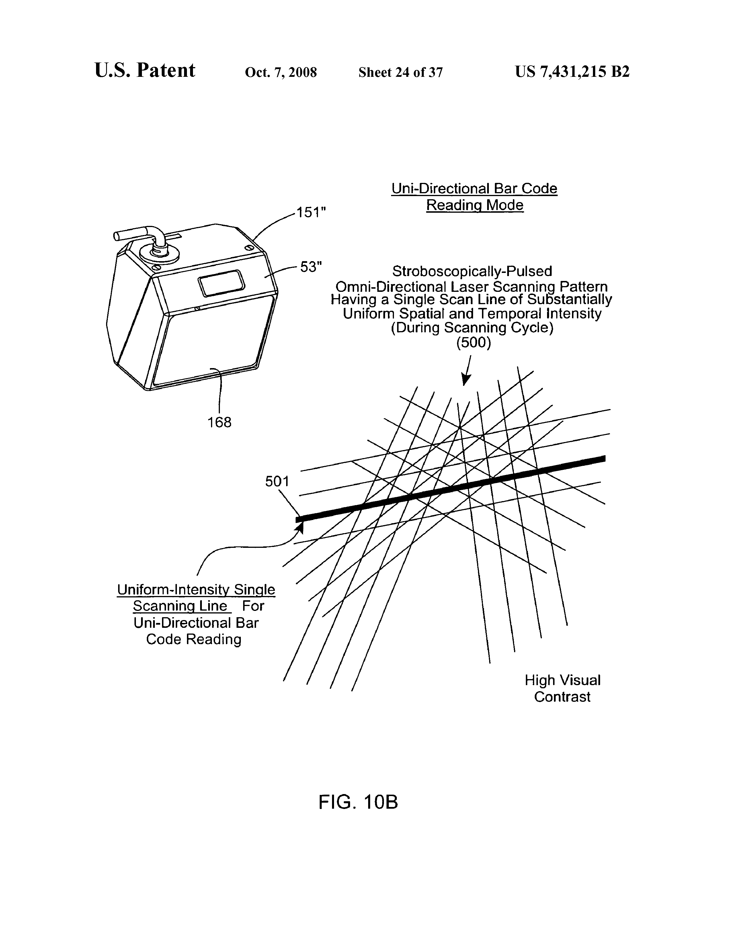 US 7431215 B2 - Automatically-activated Hand-supportable Omni