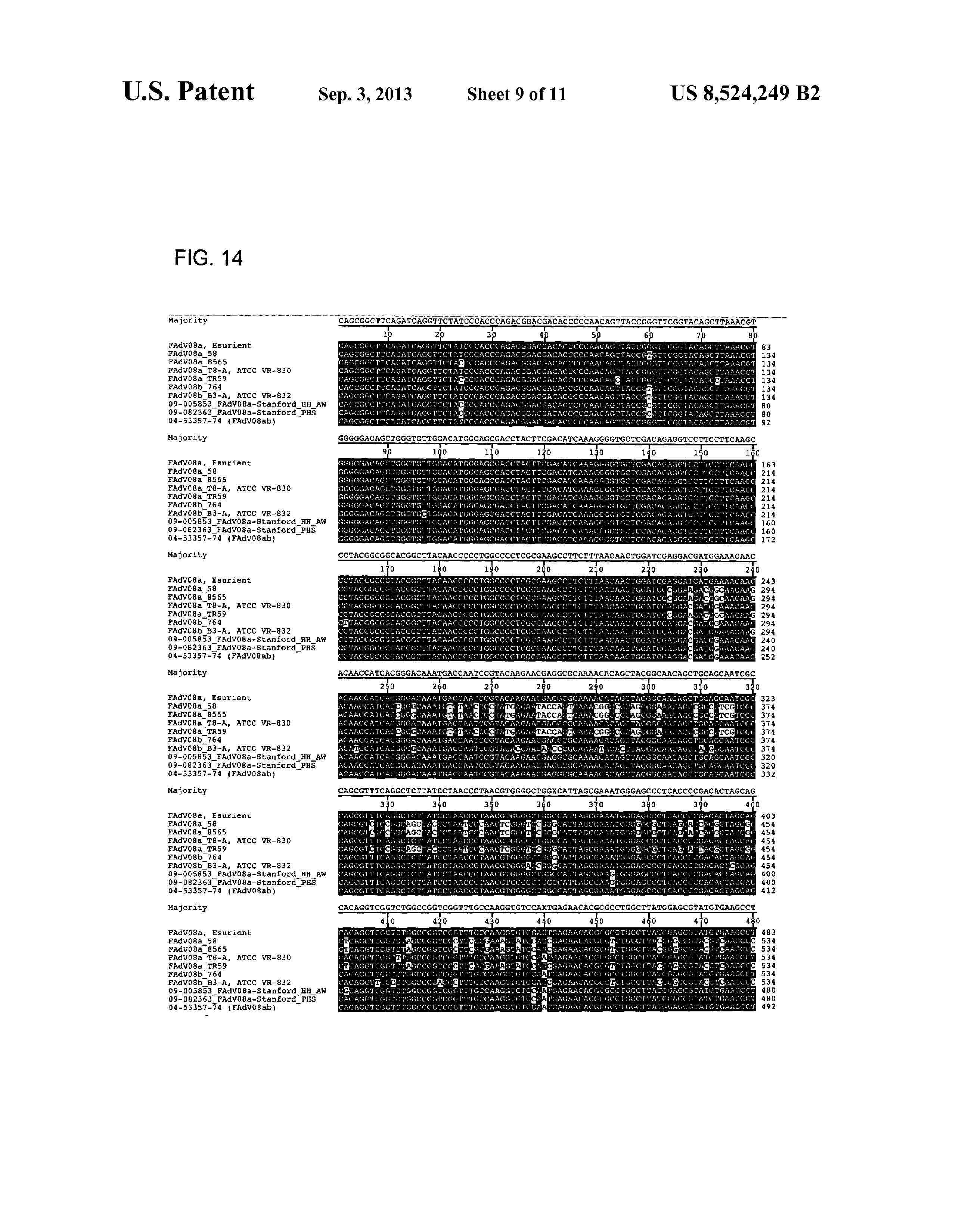 US 8524249 B2 - Vaccines For Inclusion Body Hepatitis - The