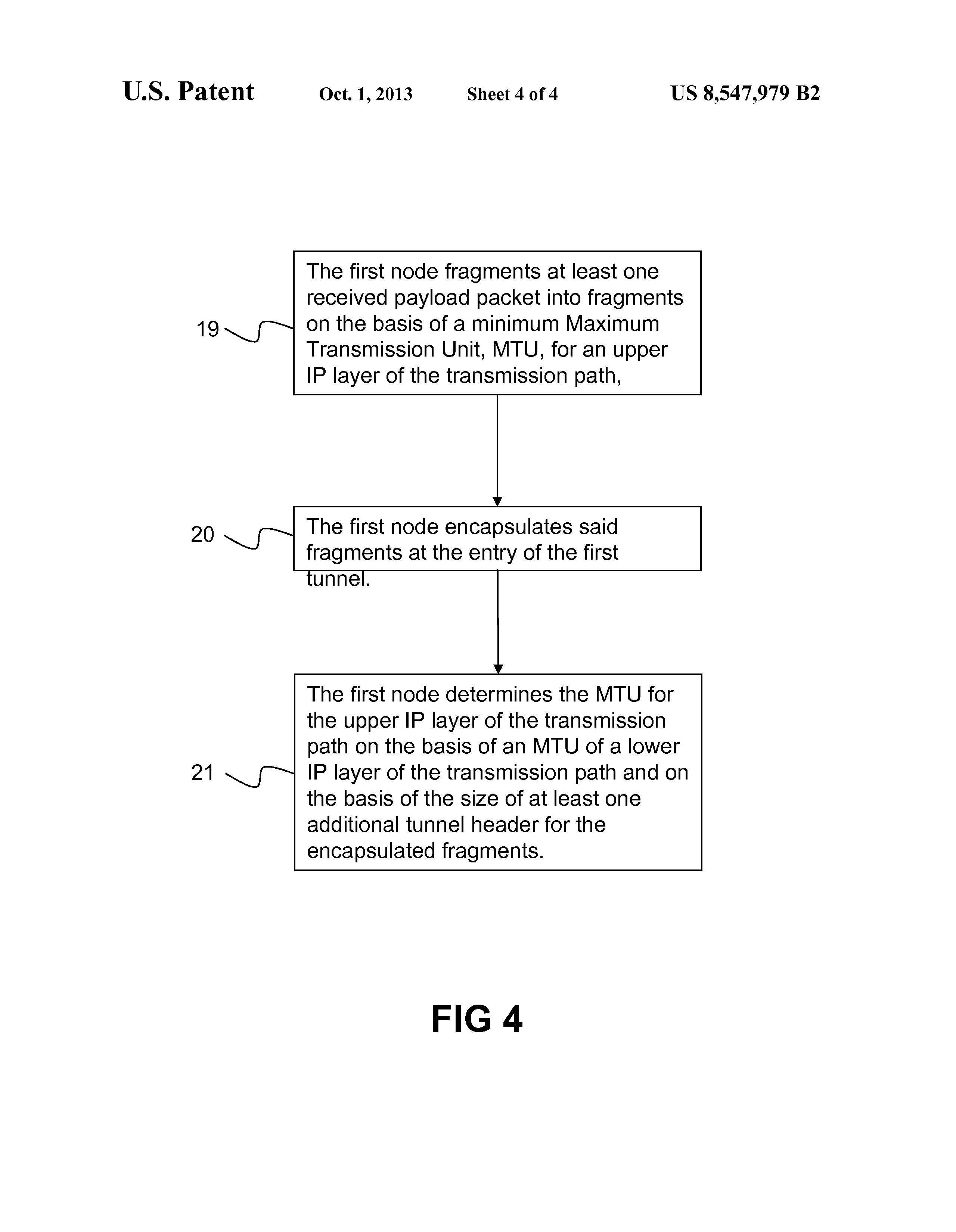 US 8547979 B2 - Ip Fragmentation In Gtp Tunnel - The Lens