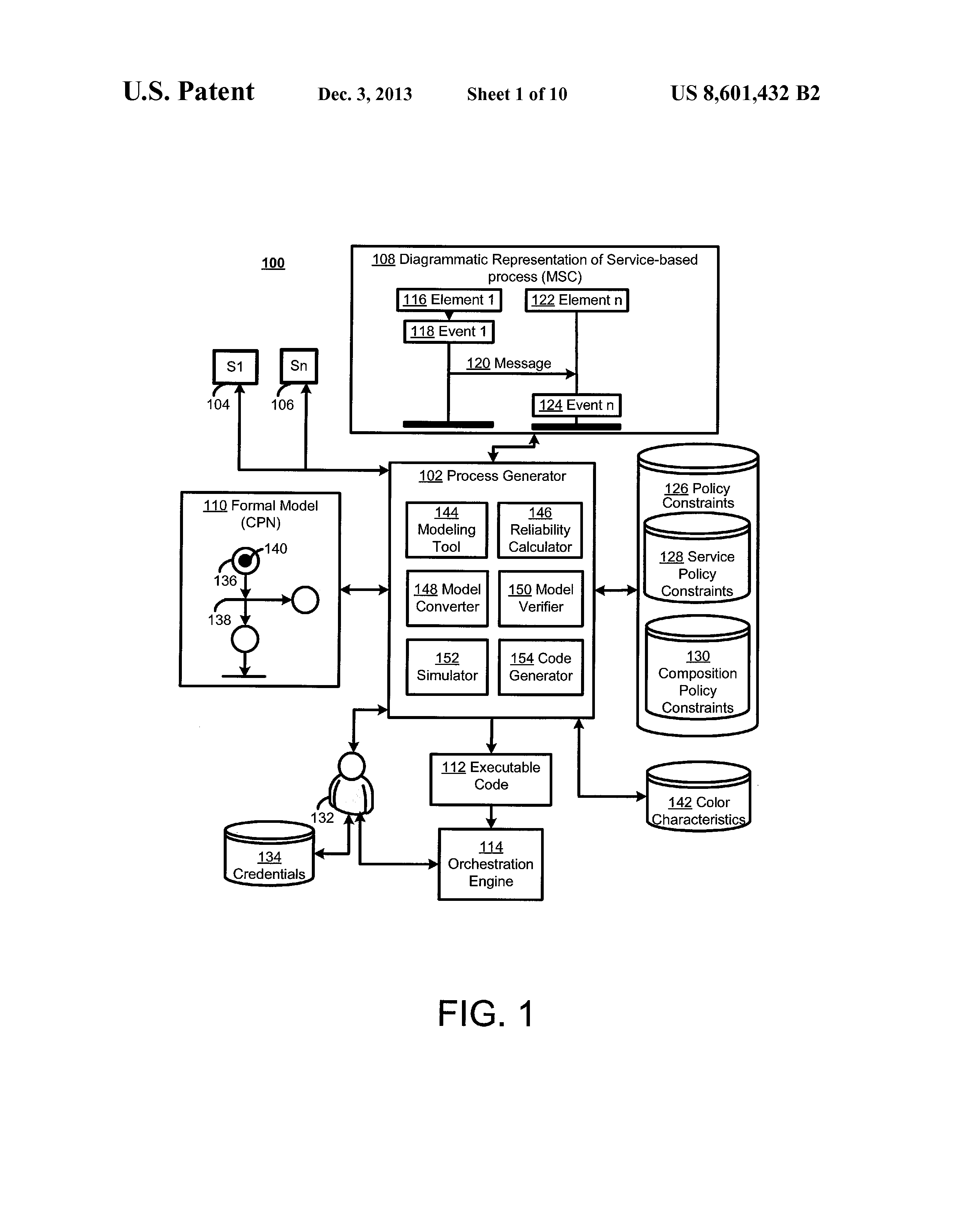 US 8601432 B2 - Service-based Processes Using Policy-based Model-to