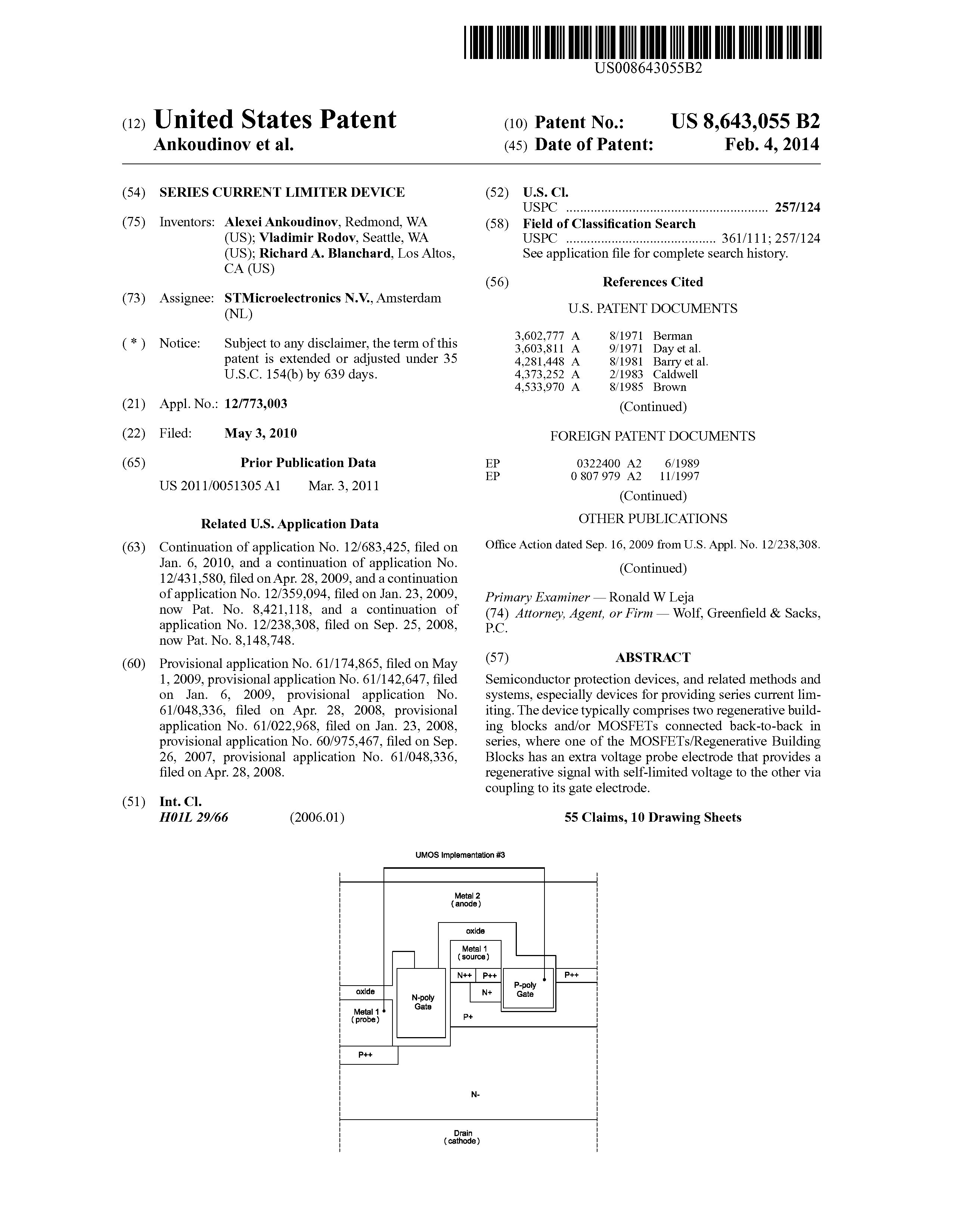 US 8643055 B2 - Series Current Limiter Device - The Lens