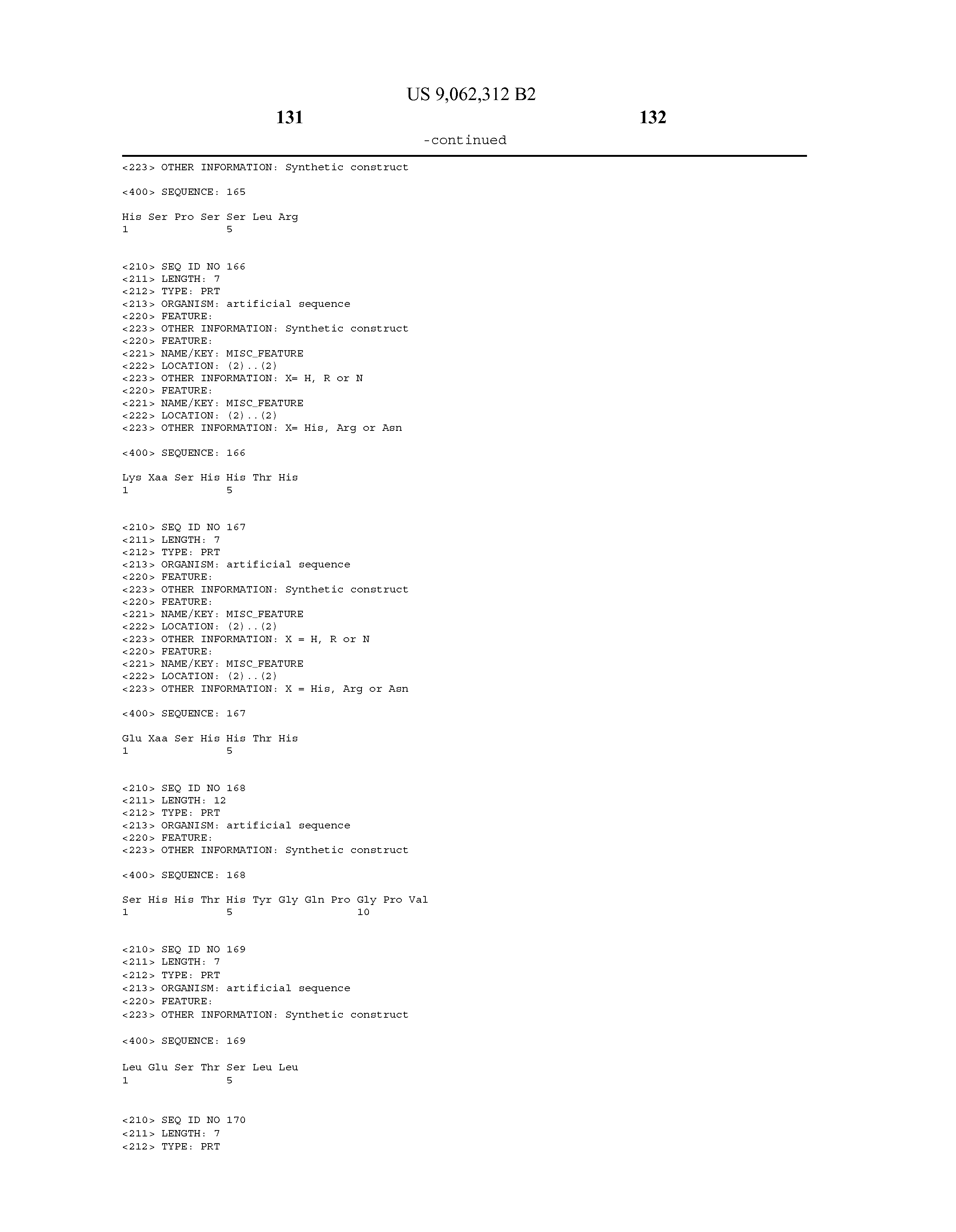 US 9062312 B2 - Fusion Peptides Comprising Multi-functional