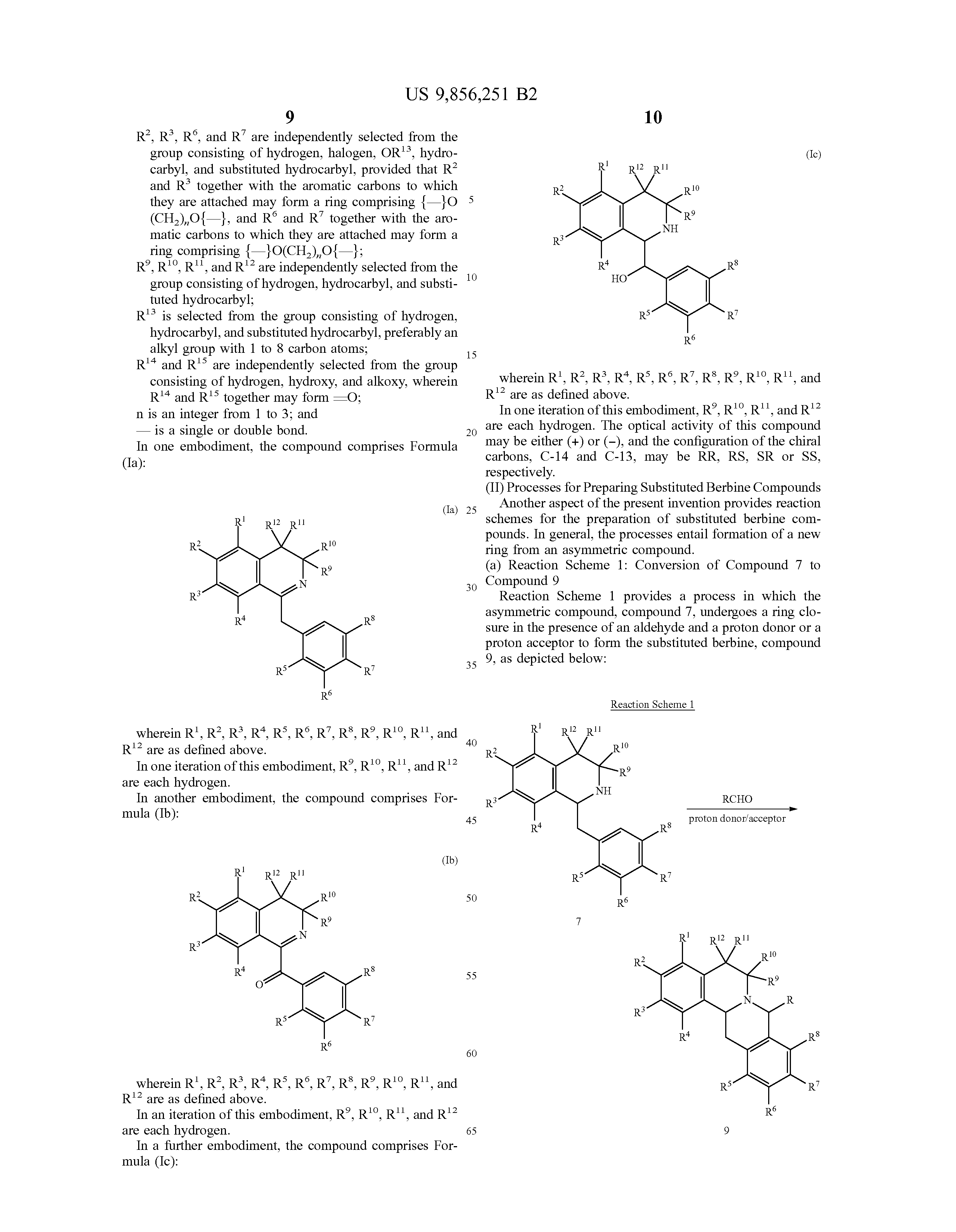 US 9856251 B2 - Substituted Berbines And Processes For Their