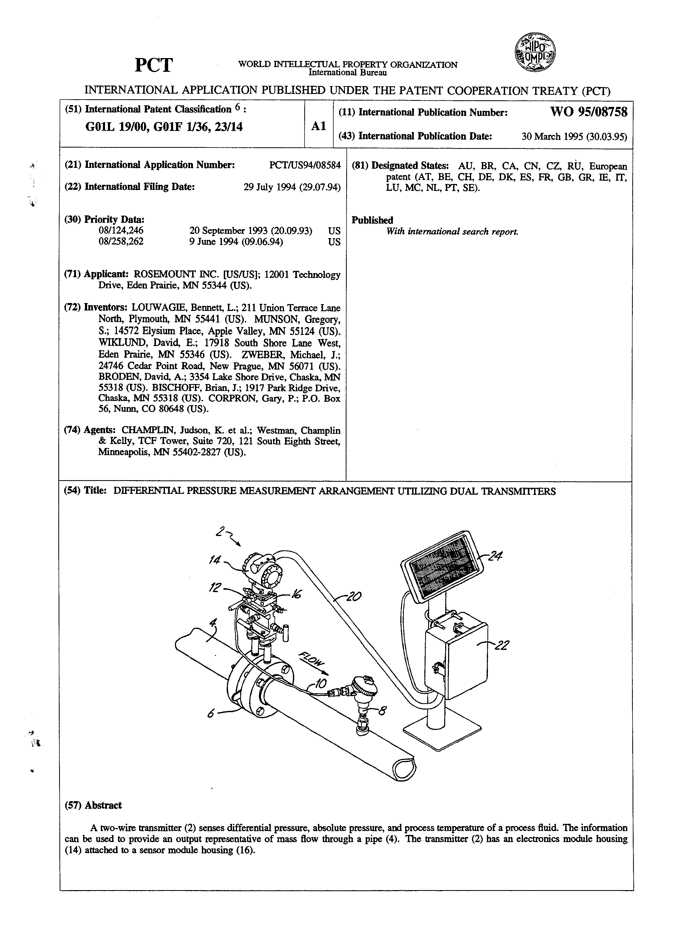 EP 0720732 A1 - Differential Pressure Measurement