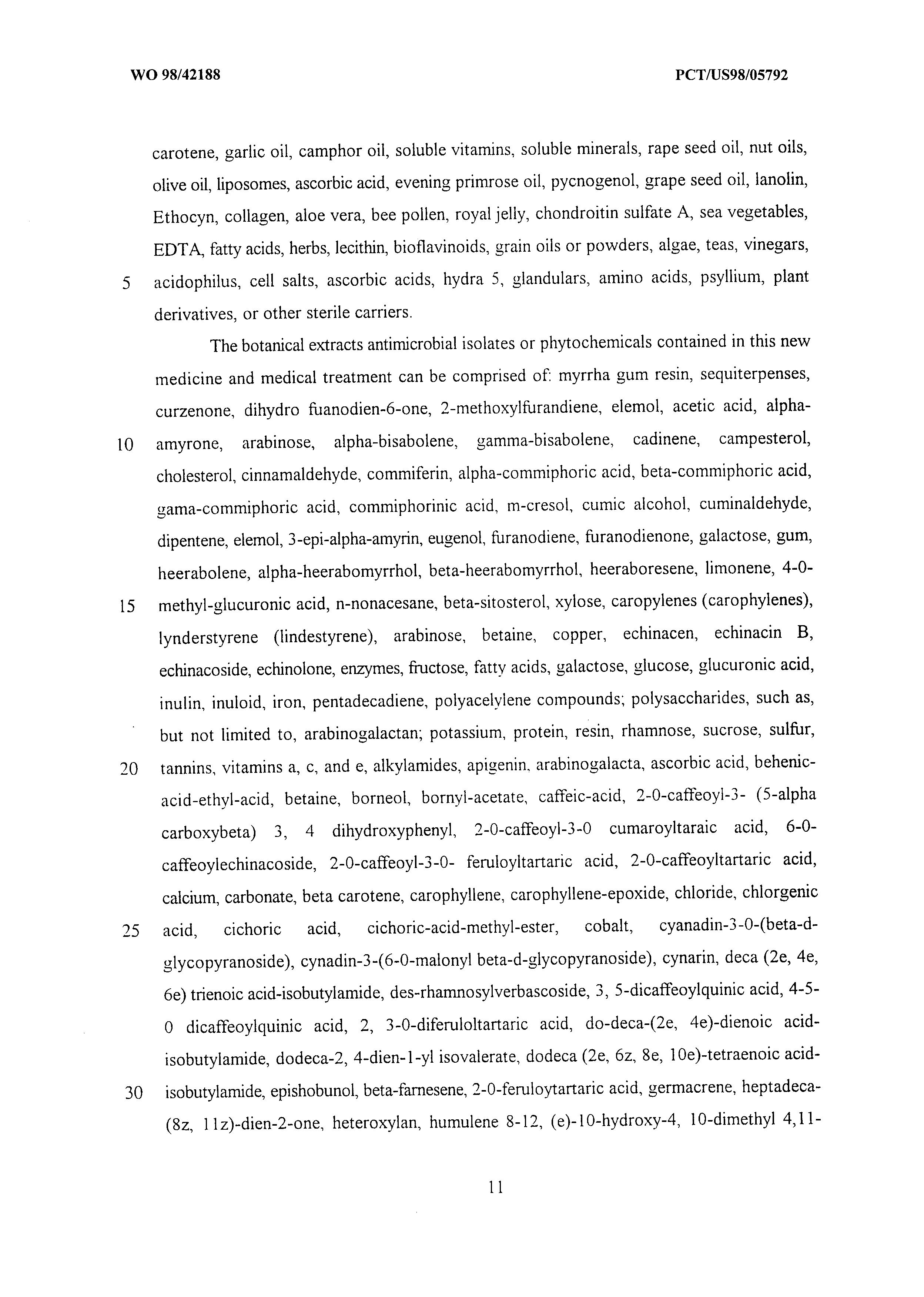WO 1998/042188 A1 - Antimicrobial Prevention And Treatment