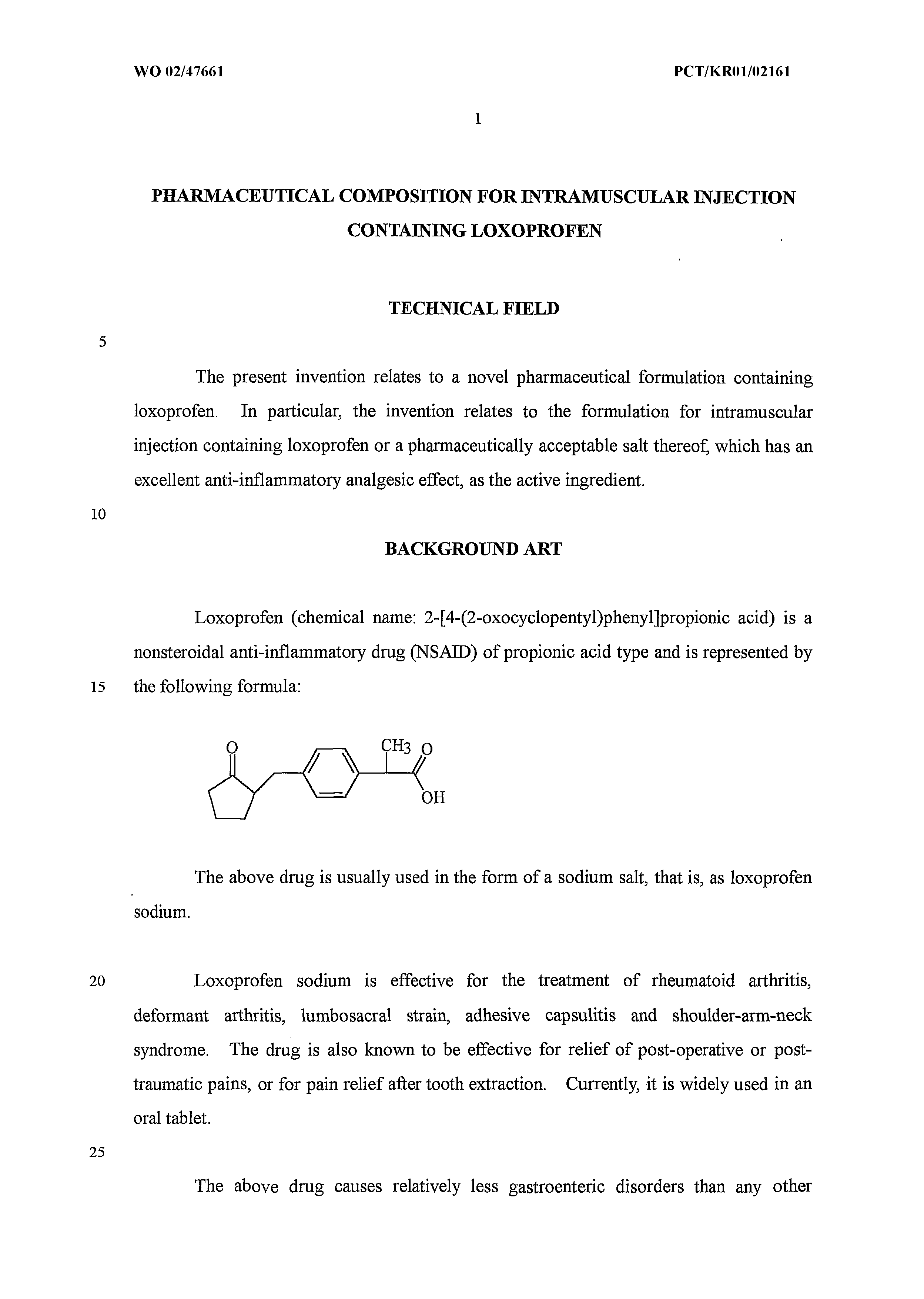 CN 1278672 C - Pharmaceutical Composition For Intramuscular