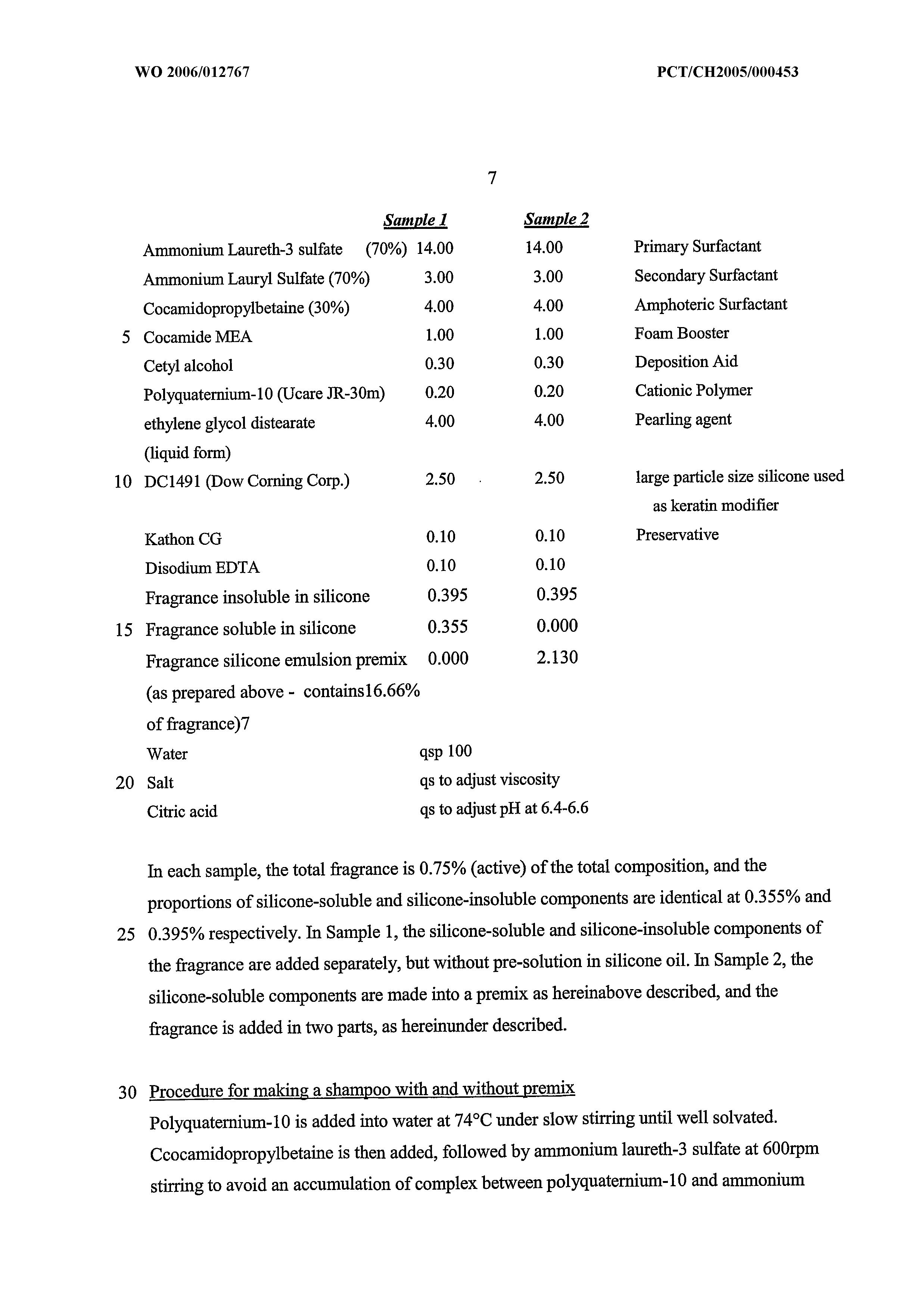WO 2006/012767 A1 - Composition Comprising Fragrance