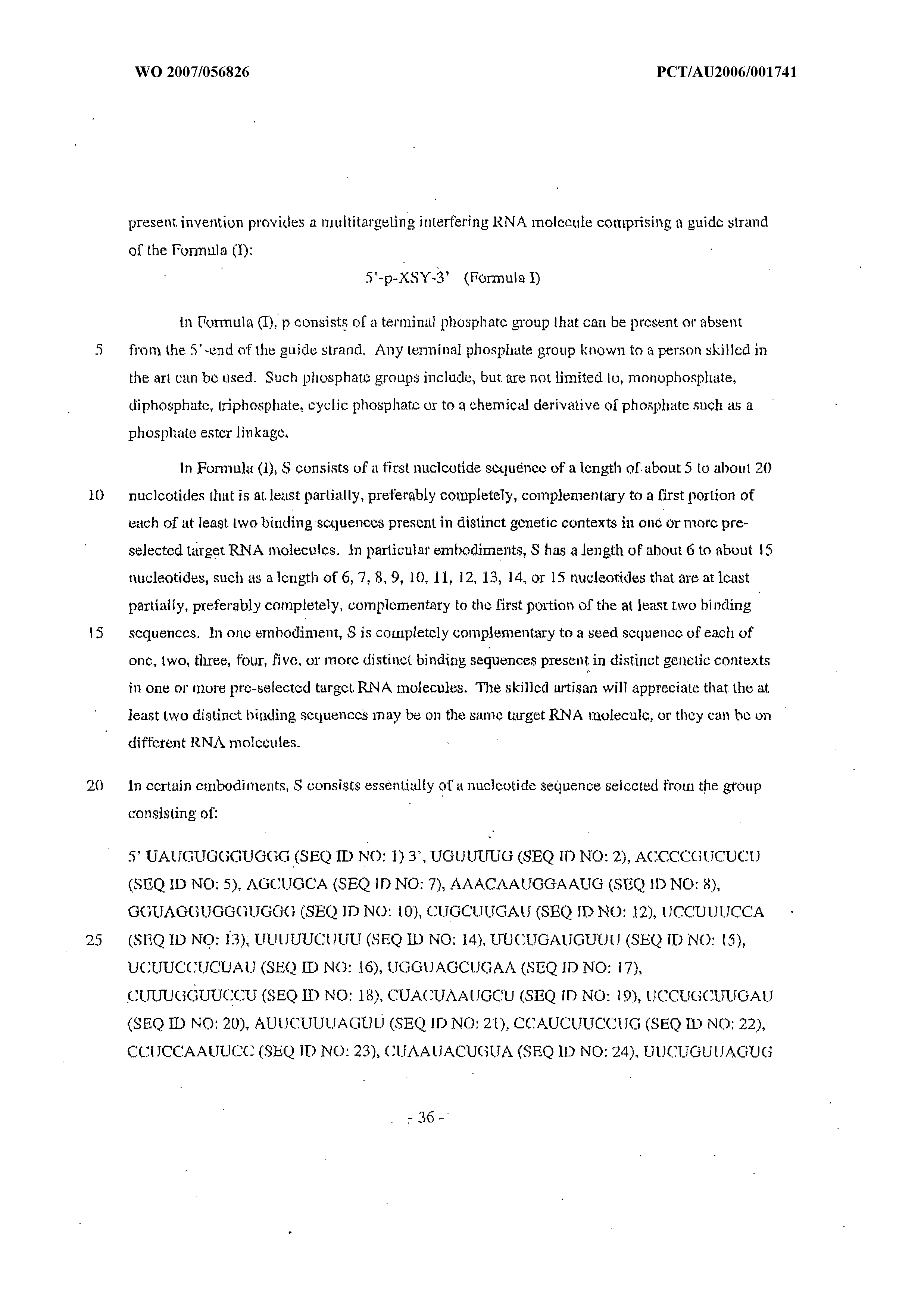 WO 2007/056826 A1 - Multitargeting Interfering Rnas And