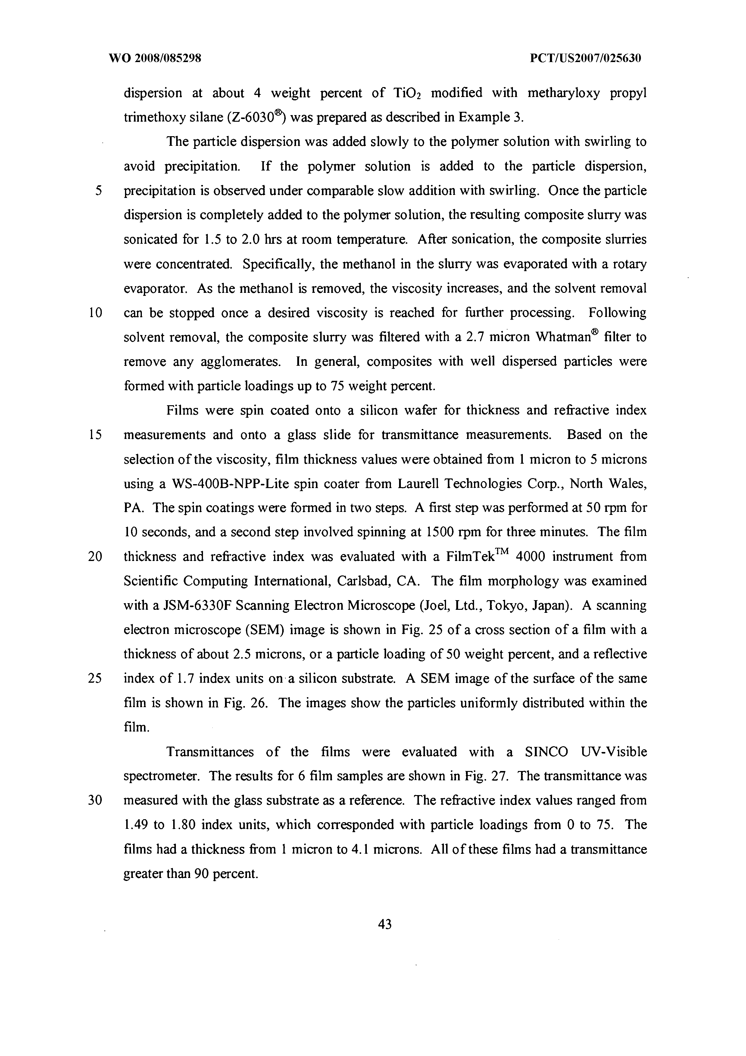 WO 2008/085298 A1 - Composites Of Polymers And Metal/metalloid Oxide
