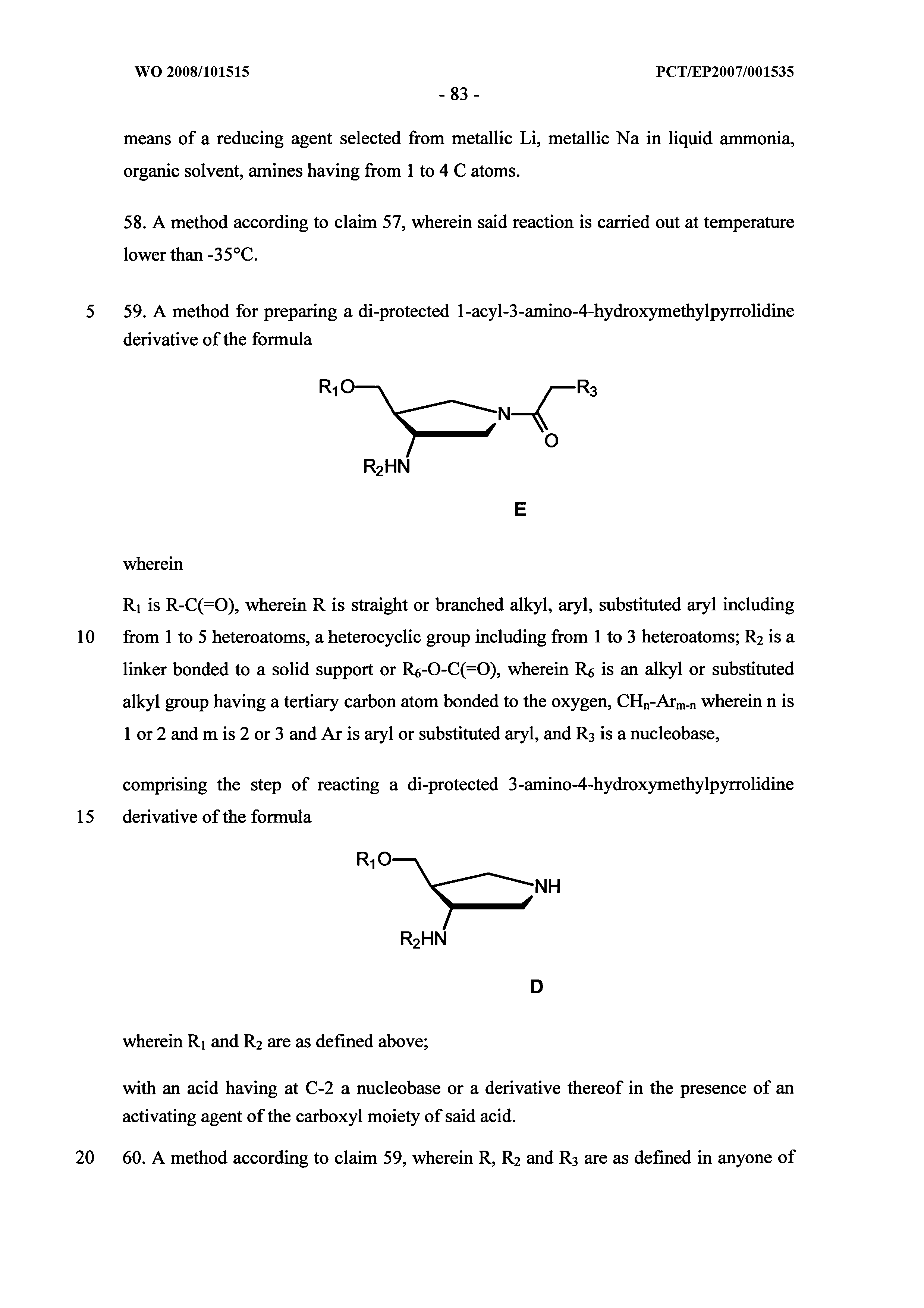 WO 2008/101515 A1 - New Synthons For The Synthesis Of Chiral Peptide