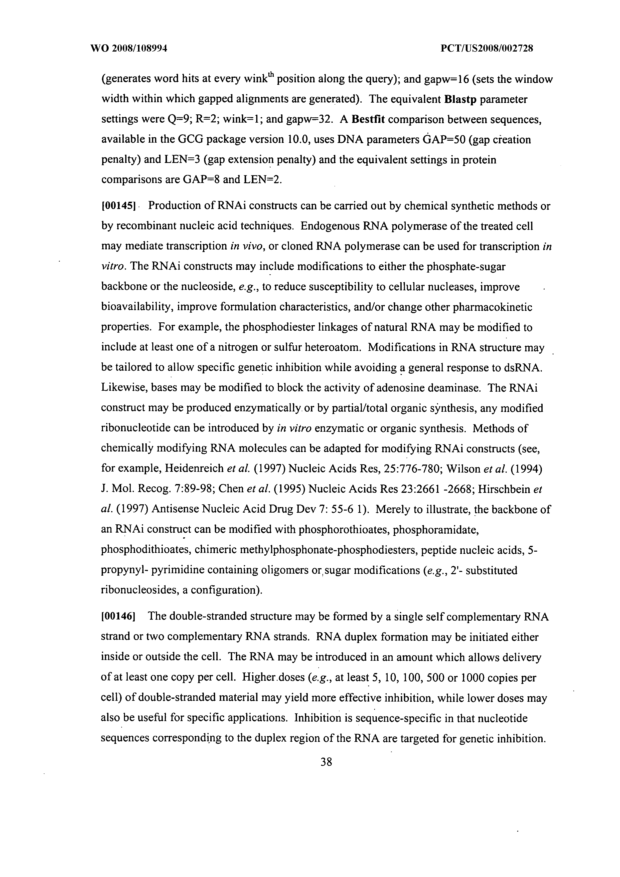 WO 2008/108994 A1 - Trp/his Exchange And Kynurenine Induced Trp