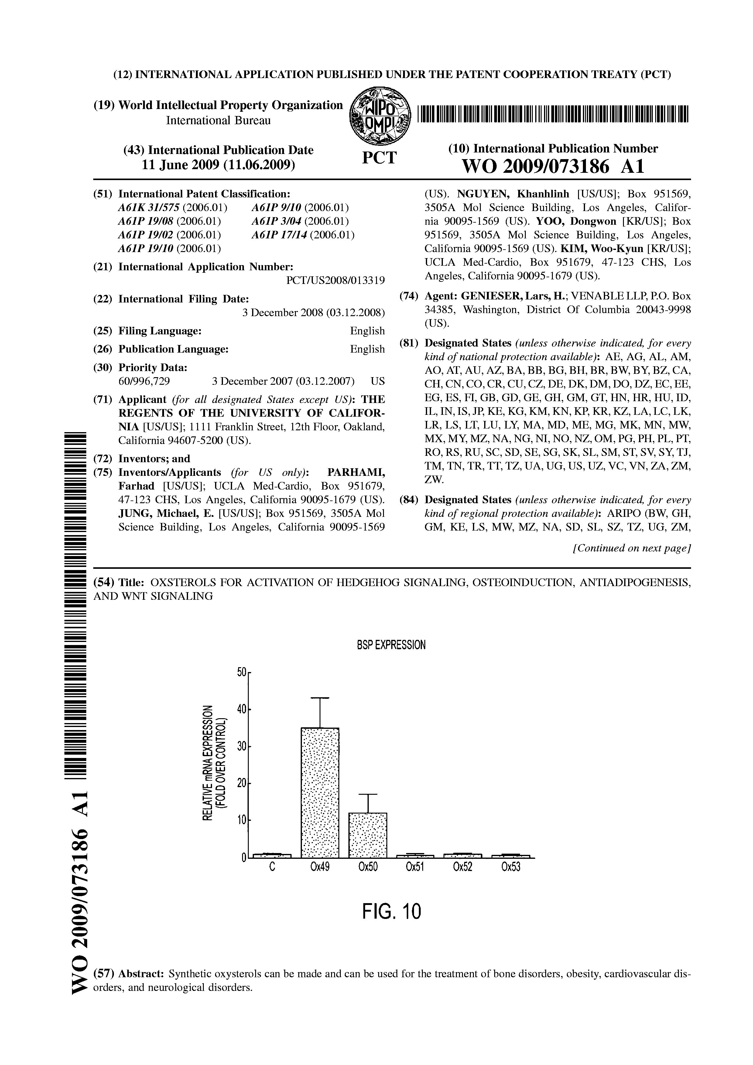 WO 2009/073186 A1 - Oxsterols For Activation Of Hedgehog